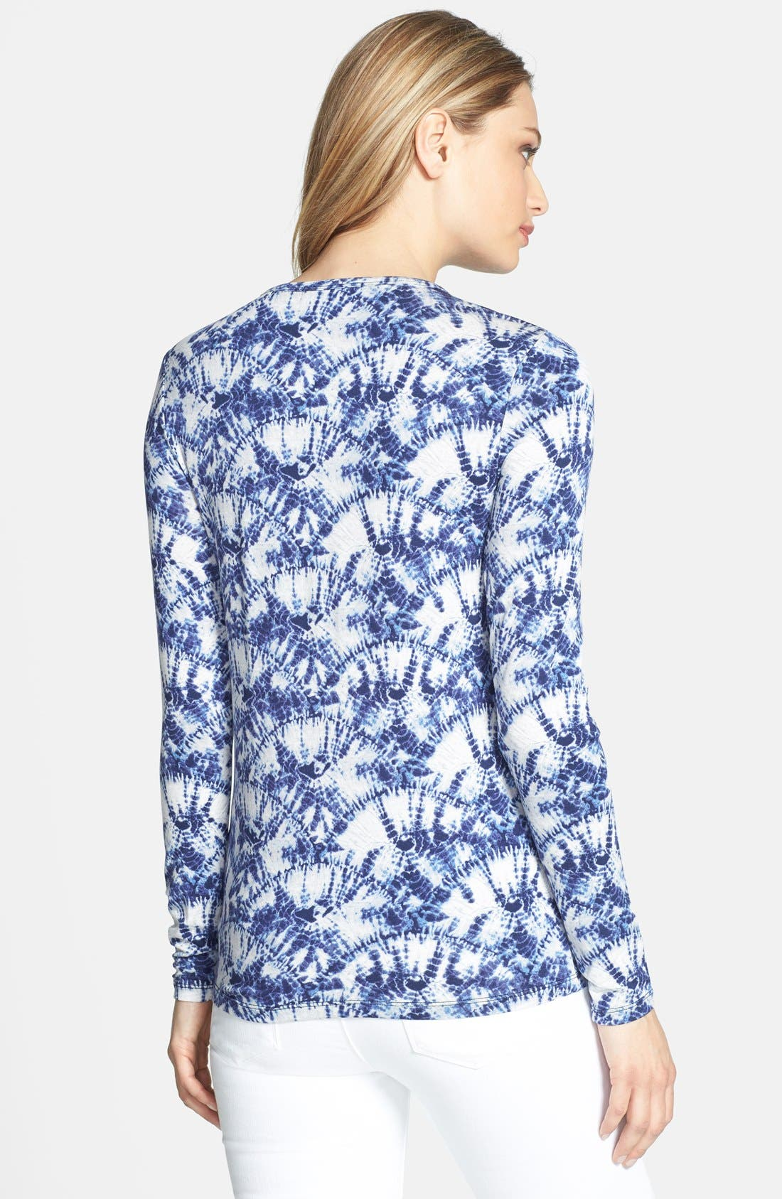 Alternate Image 2  - MICHAEL Michael Kors Print Crewneck Long Sleeve Tee (Regular & Petite)