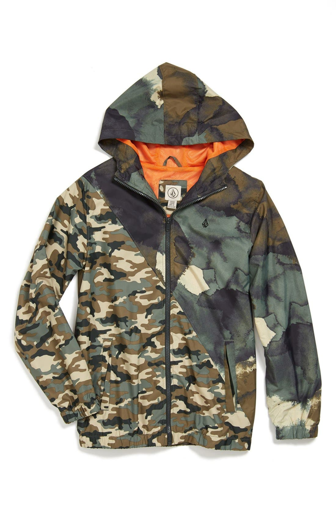 Main Image - Volcom 'Forwarder' Mixed Camo Jacket (Big Boys)