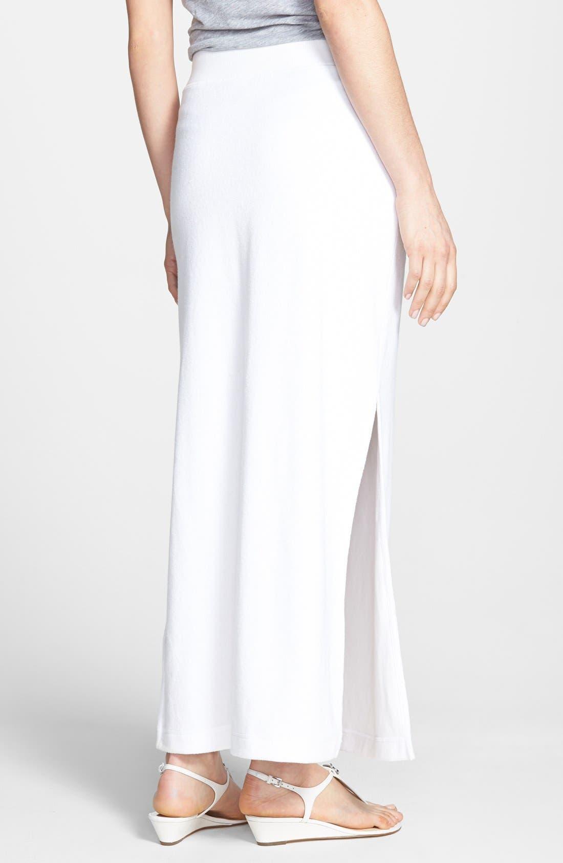 Alternate Image 2  - MICHAEL Michael Kors French Terry Maxi Skirt