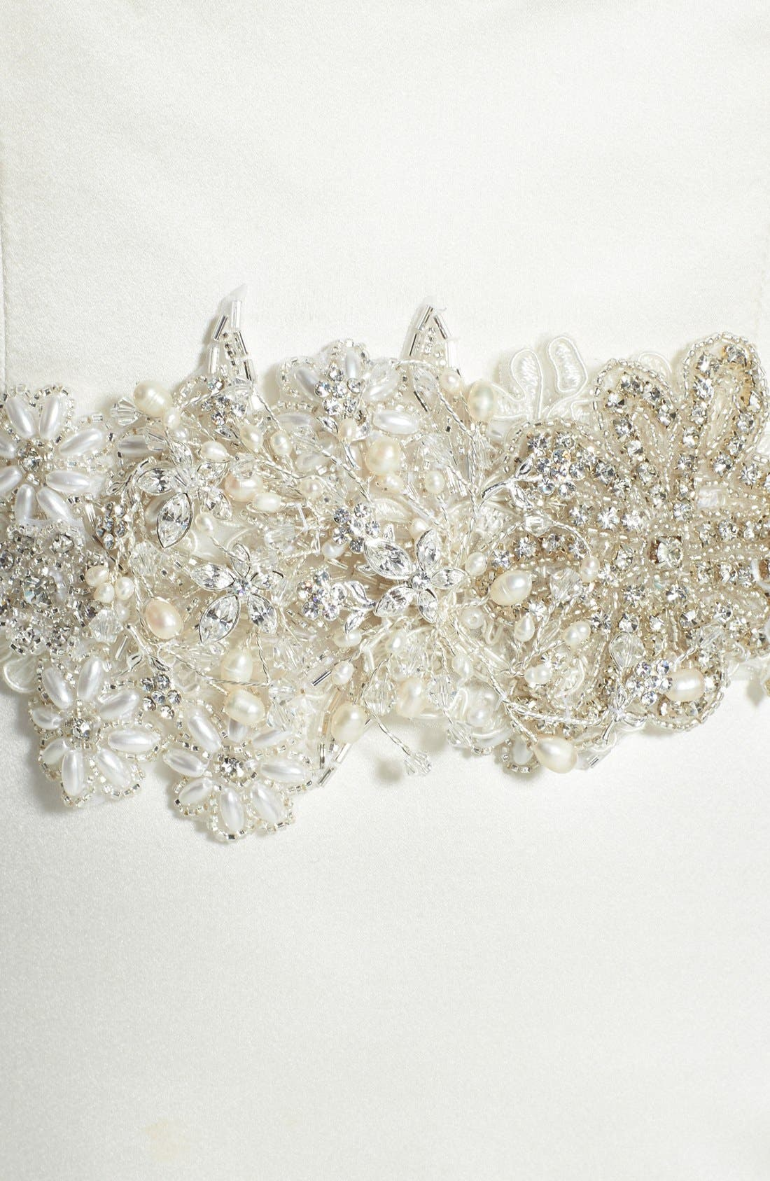 Alternate Image 2  - twigs & honey Swarovski Crystal Floral Beaded Belt
