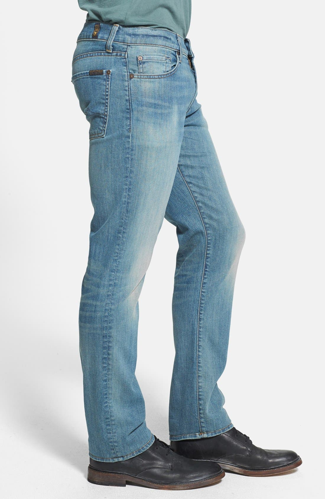 Alternate Image 3  - 7 For All Mankind® 'Slimmy' Slim Straight Leg Jeans (Authentic Vintage)