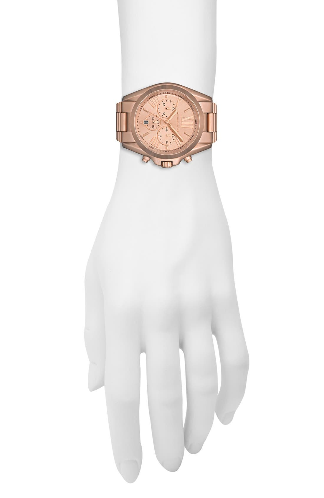 Alternate Image 4  - Michael Kors 'Bradshaw' Chronograph Bracelet Watch, 43mm