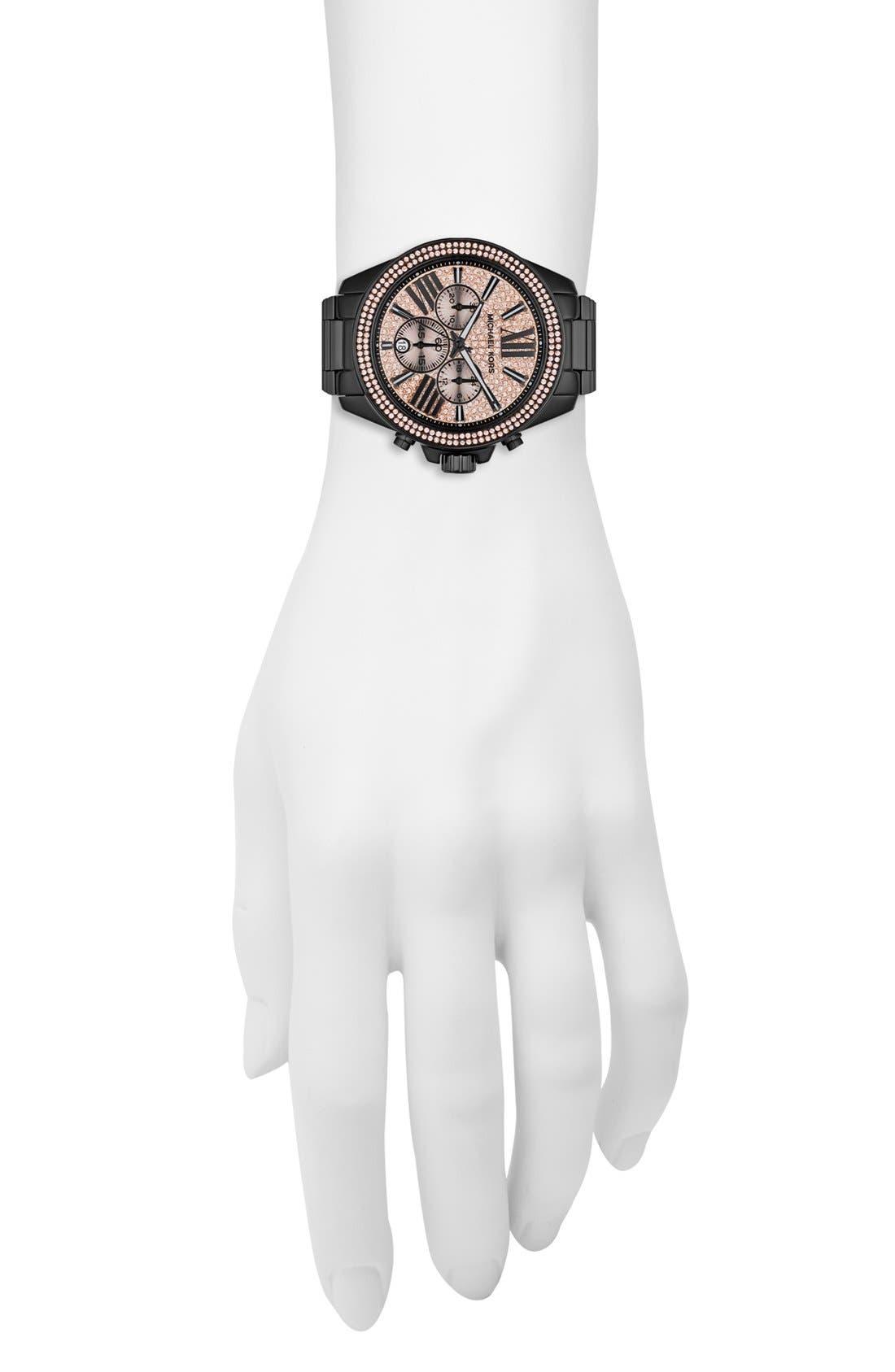Alternate Image 4  - Michael Kors 'Wren' Pavé Dial Chronograph Bracelet Watch, 42mm