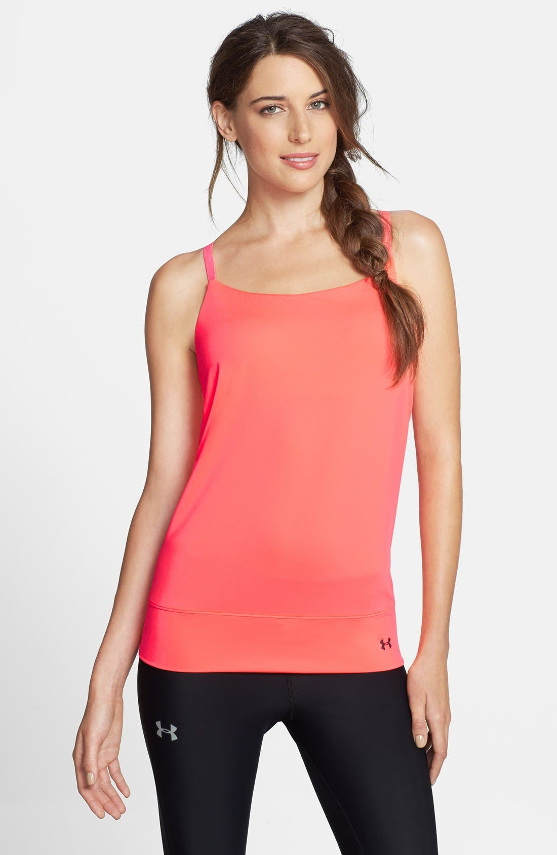 Main Image - Under Armour 'Essential' Cutout Back Tank