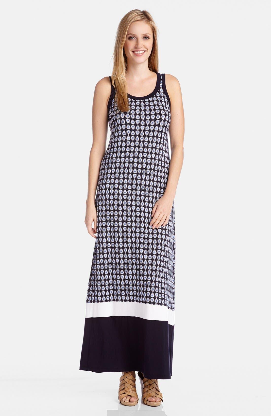 Alternate Image 1 Selected - Karen Kane Contrast Hem Maxi Tank Dress