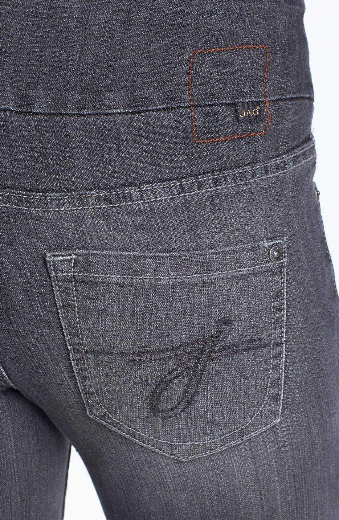 Alternate Image 3  - Jag Jeans 'Malia' Slim Leg Stretch Jeans (Grey) (Petite)