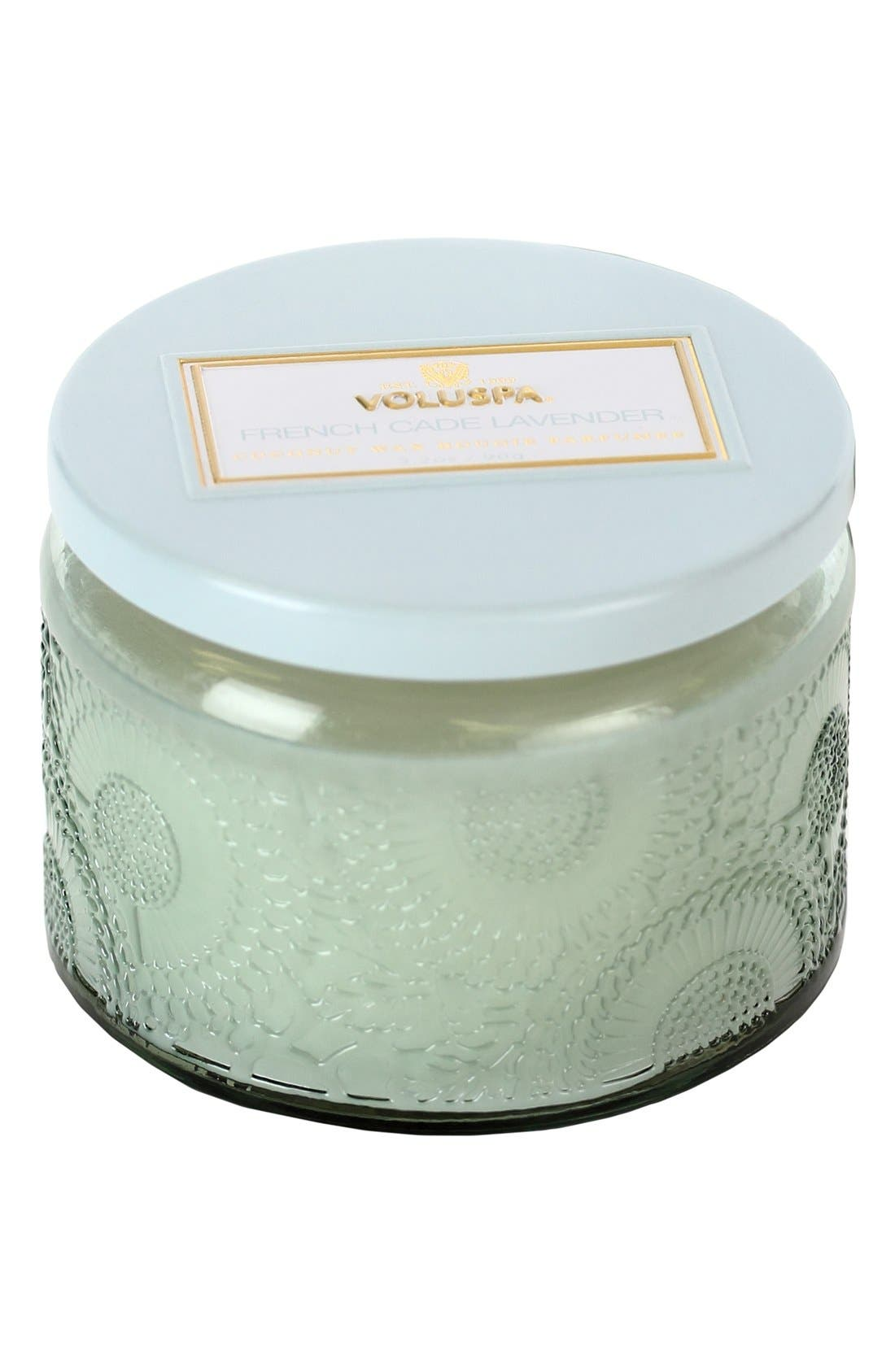 Alternate Image 1 Selected - Voluspa 'Japonica - French Cade Lavender' Petite Colored Jar Candle