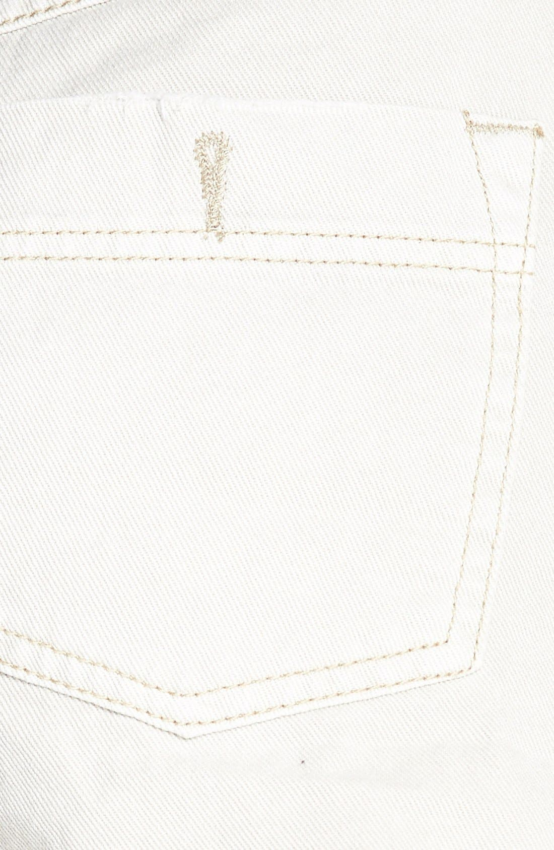 Alternate Image 3  - Free People 'Dolphin' Cutoff Denim Shorts (Chalk)