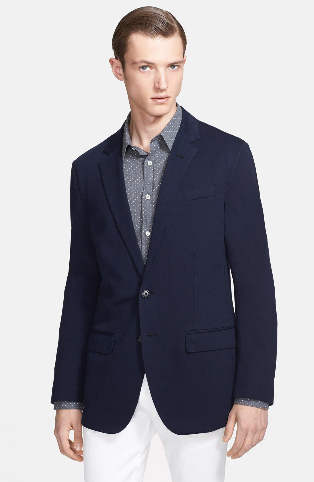 Alternate Image 1 Selected - Ralph Lauren Black Label Jersey Blazer