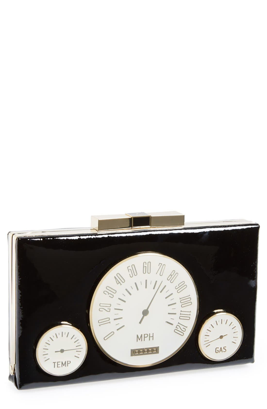 Main Image - kate spade new york 'milo' patent leather clutch
