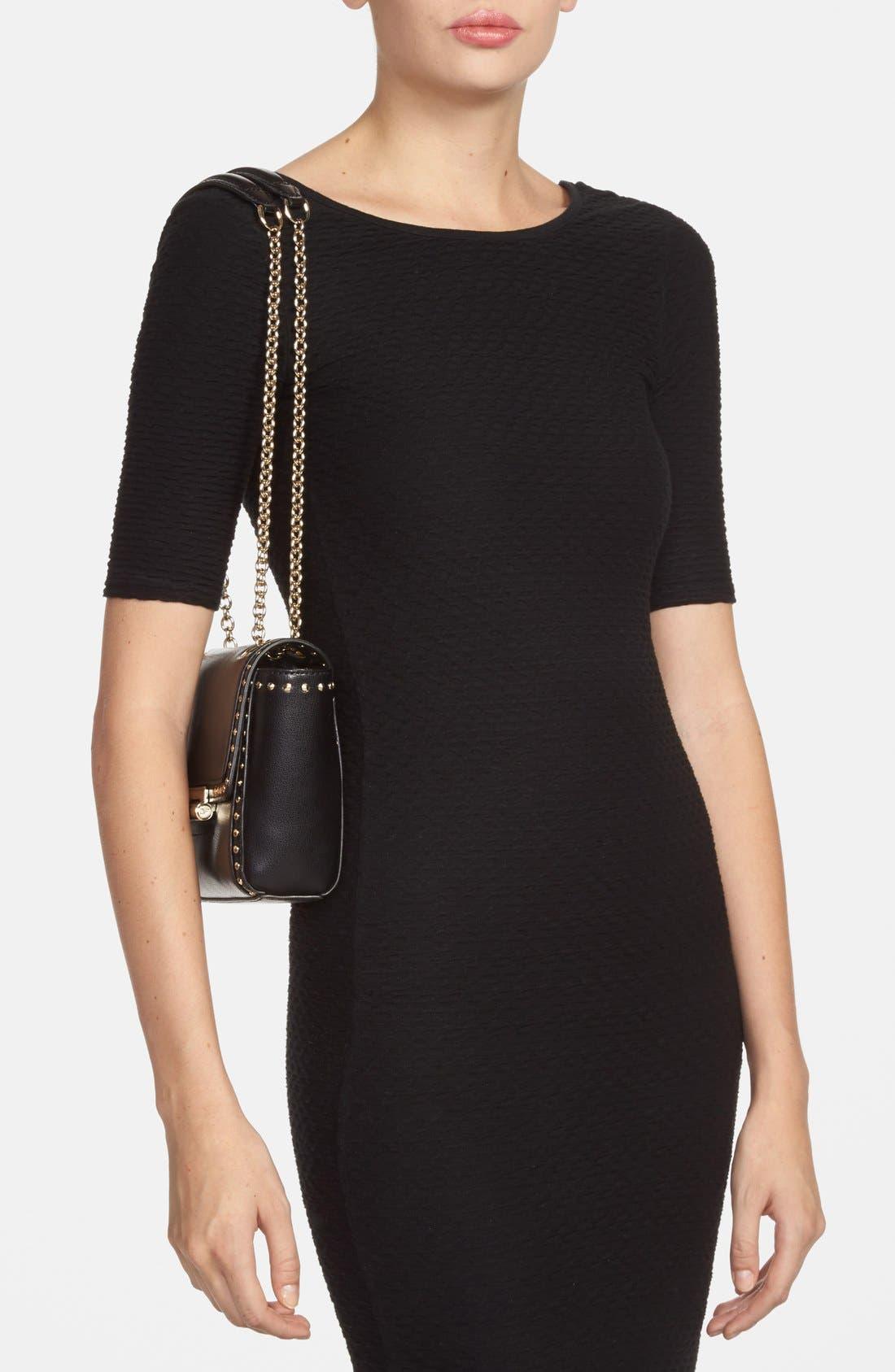 Alternate Image 2  - Diane Von Furstenberg '440 - Mini' Stud Leather Crossbody Bag