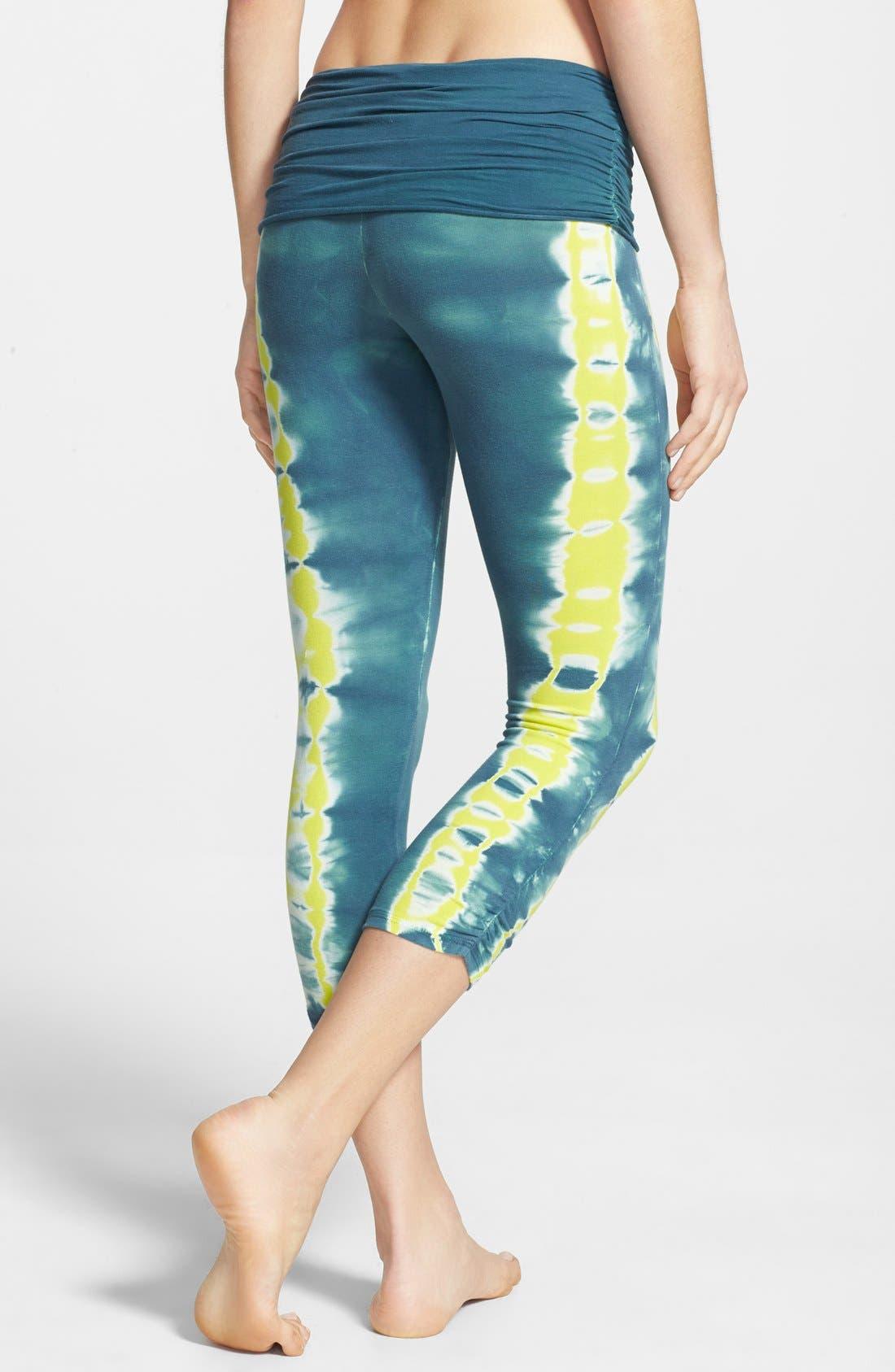 Alternate Image 2  - Omgirl 'Free Stripe Ahimsa' Organic Cotton Capri Leggings