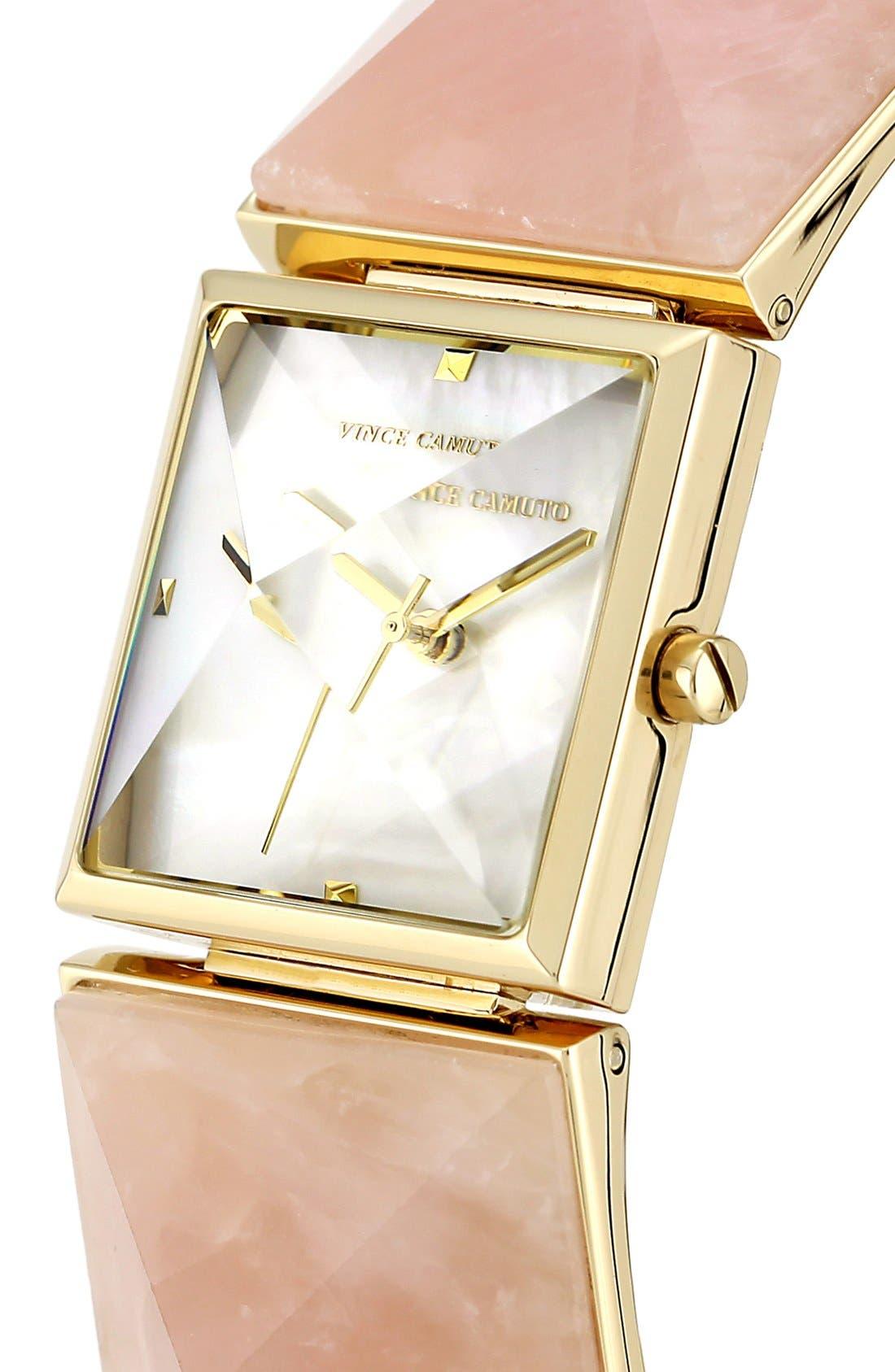Alternate Image 4  - Vince Camuto Pyramidal Stone Bracelet Watch, 26mm