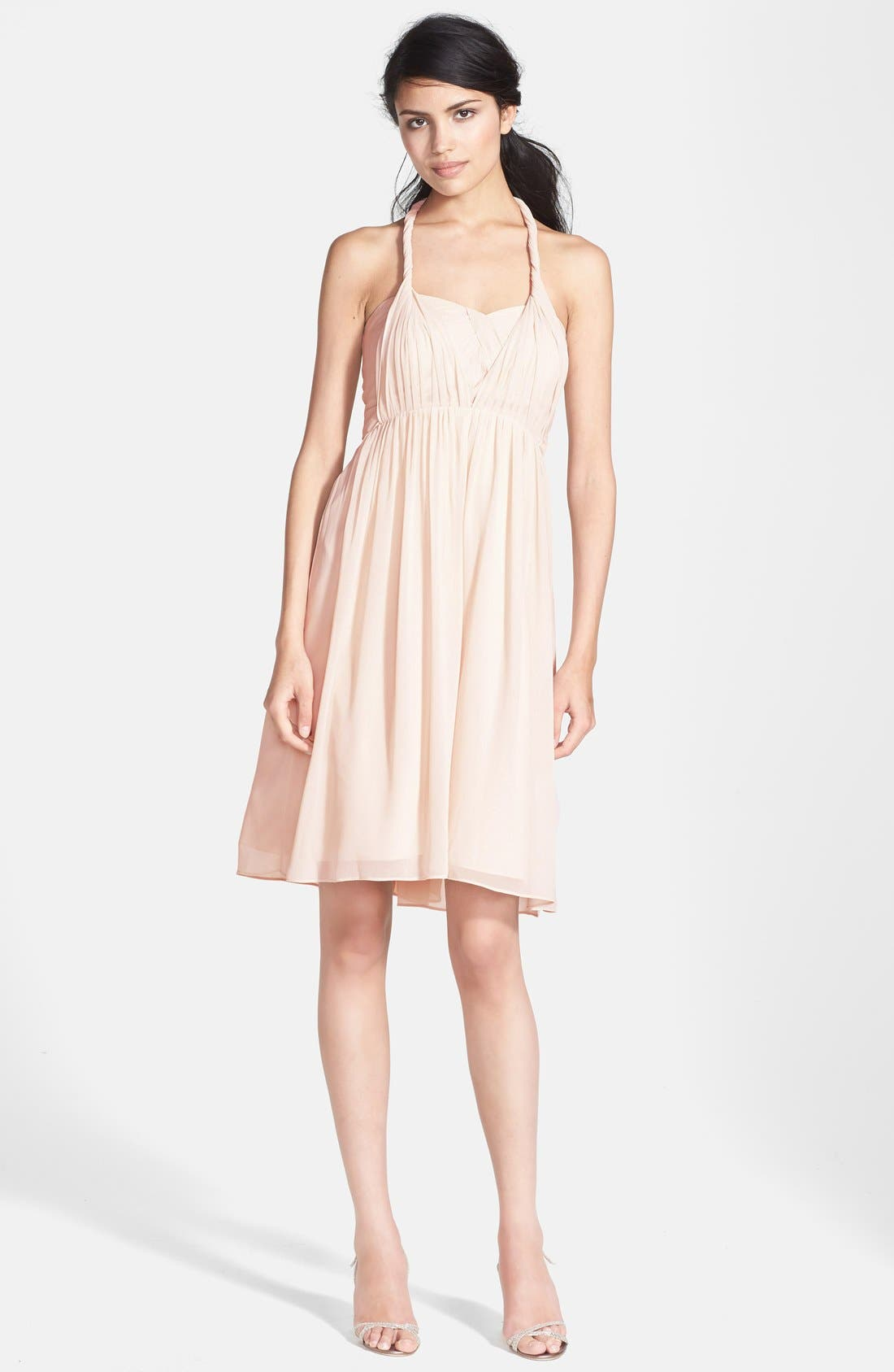 Alternate Image 3  - Jenny Yoo 'Keira' Convertible Strapless Chiffon Dress