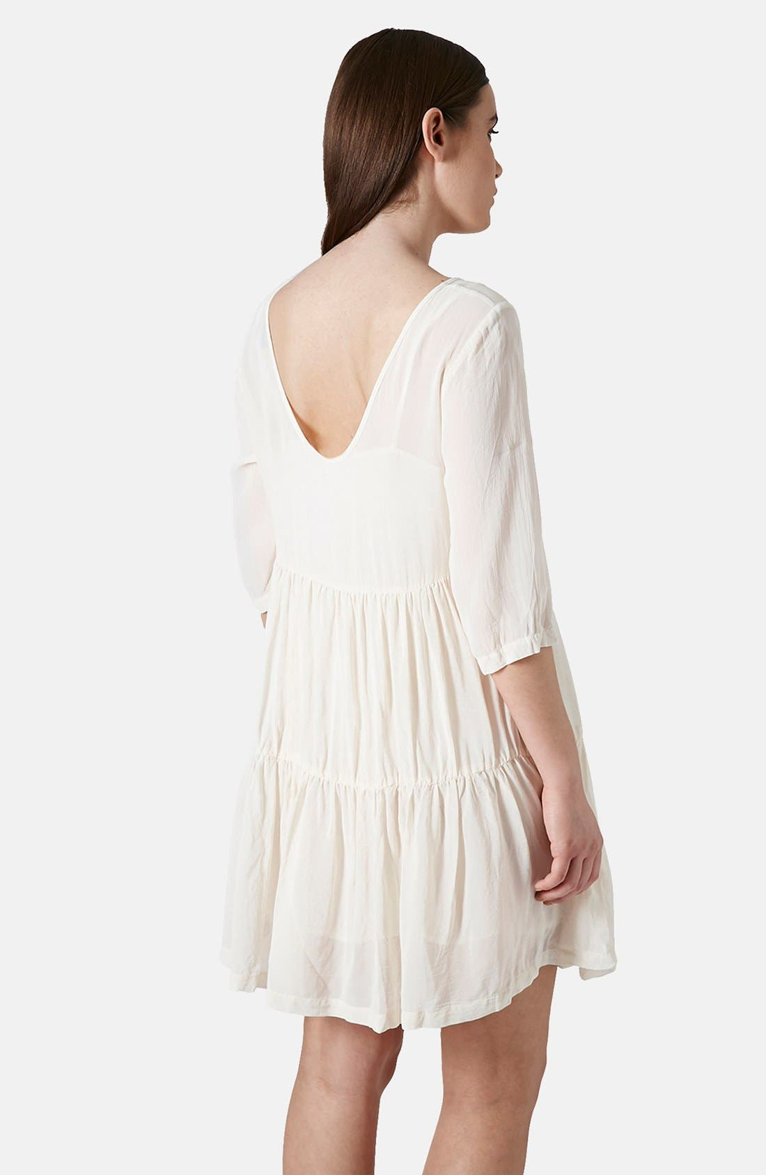 Alternate Image 2  - Topshop Chiffon Tiered Smock Dress