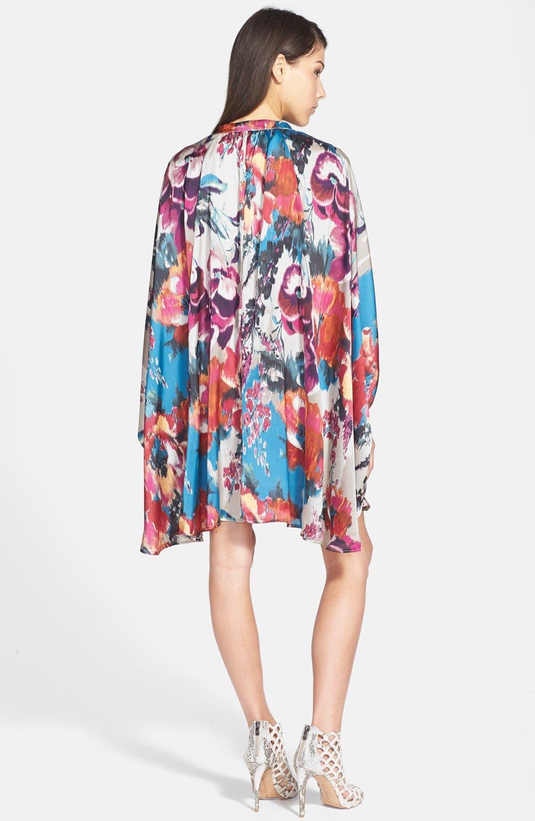 Alternate Image 2  - Maisie 'Lenore' Floral Print Kimono Dress