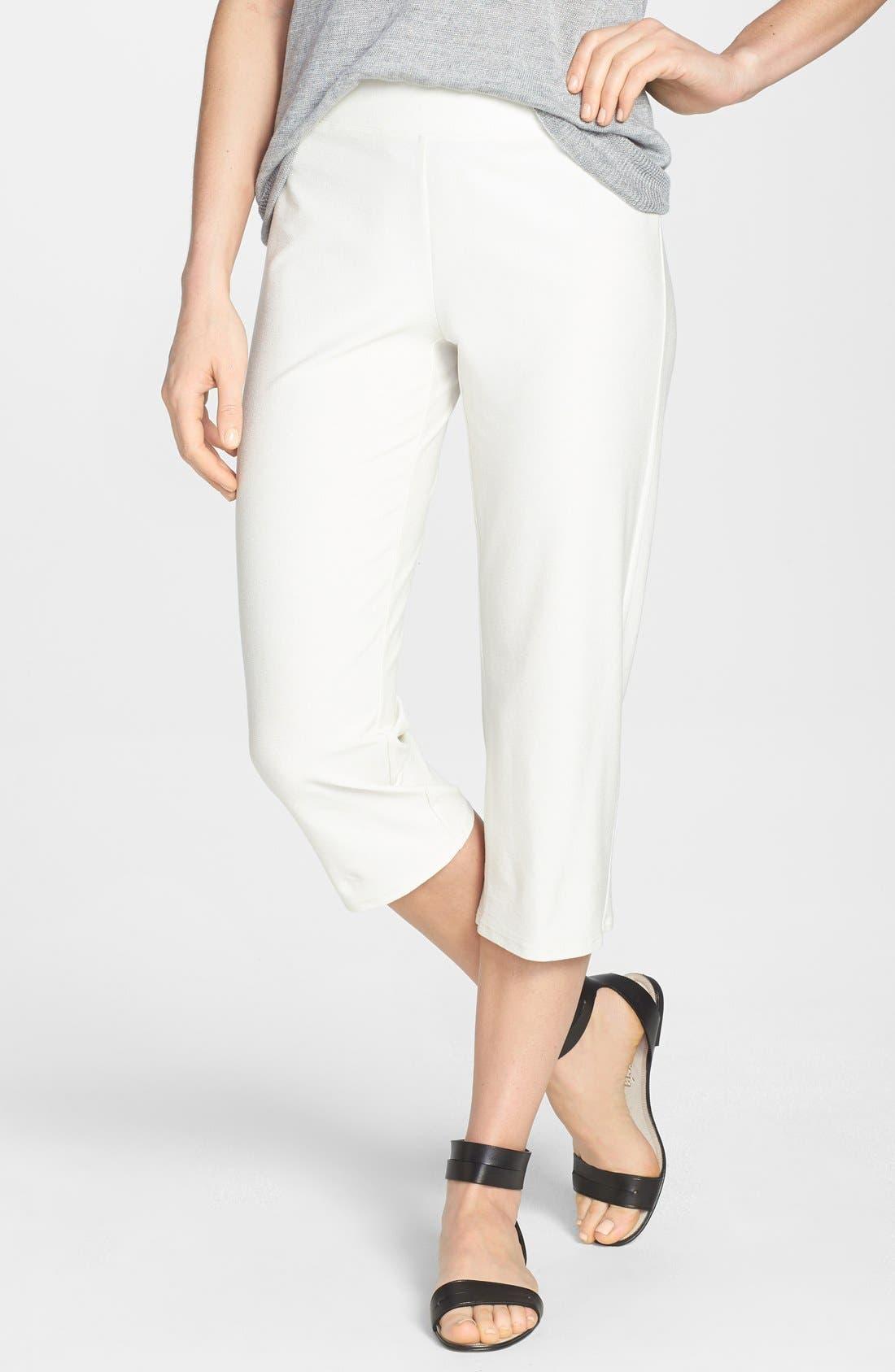 Alternate Image 1 Selected - Eileen Fisher Slim Capri Pants (Regular & Petite) (Online Only)