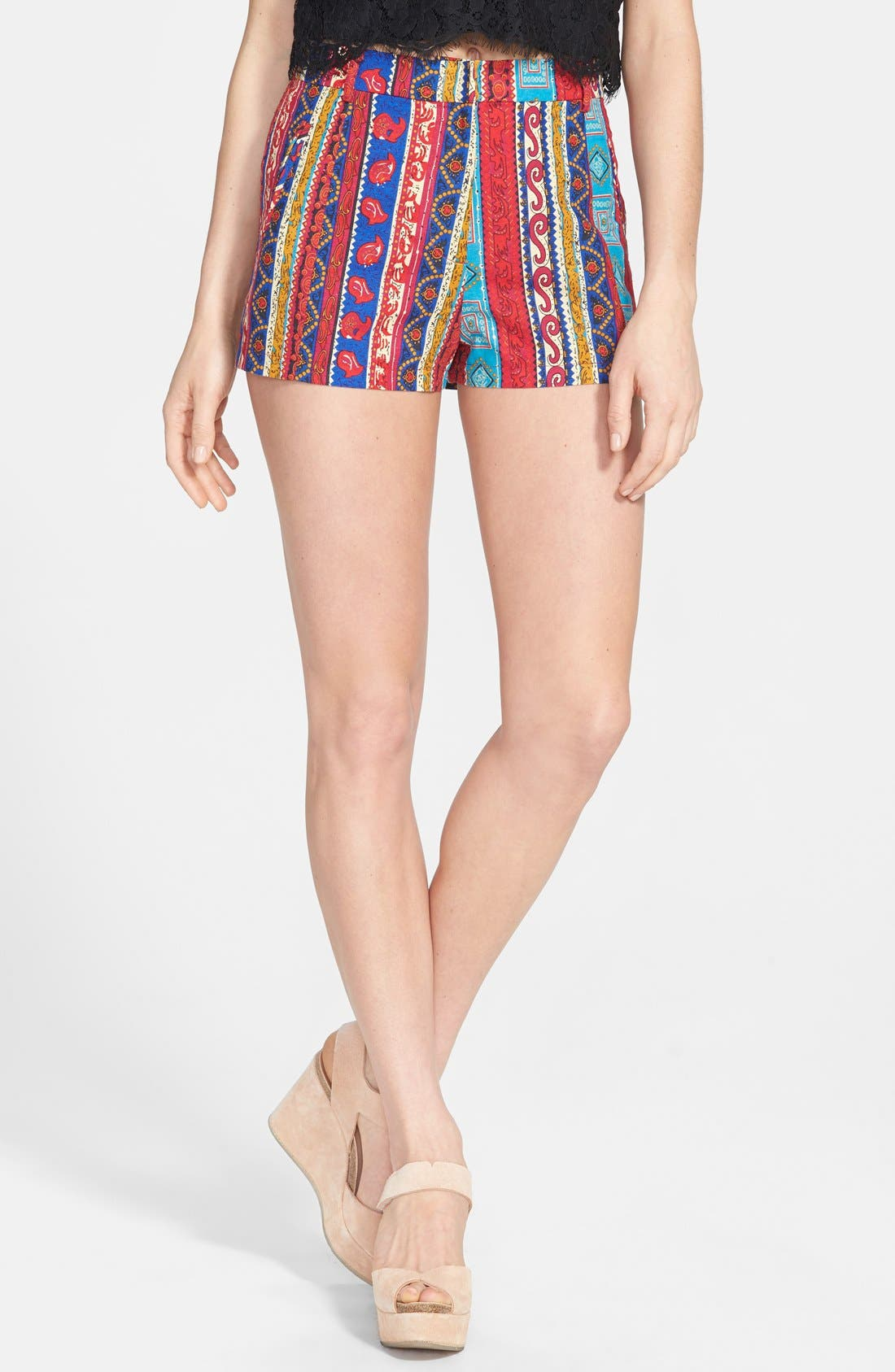 Alternate Image 1 Selected - Lucca Couture Print High Rise Shorts