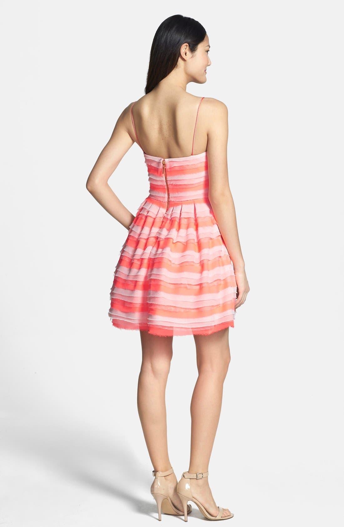 Alternate Image 2  - ERIN erin fetherston 'Azalea' Tiered Chiffon Fit & Flare Dress