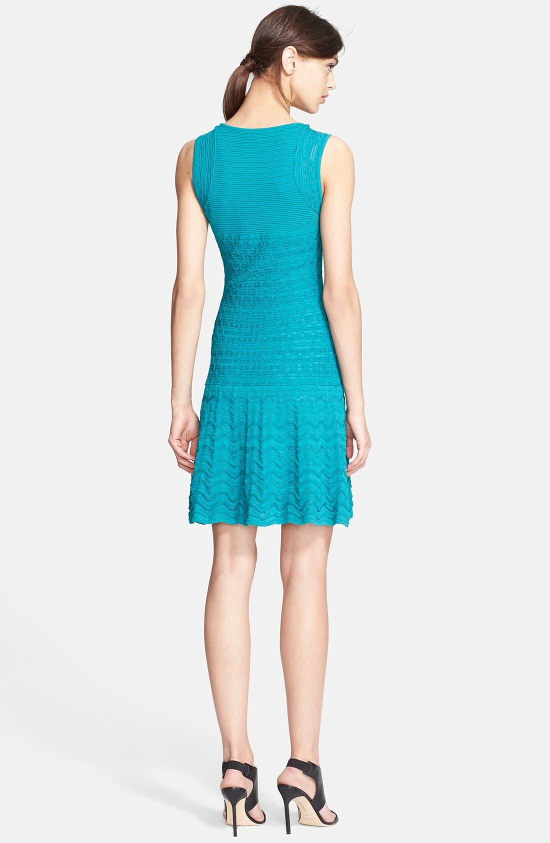 Alternate Image 2  - M Missoni Sleeveless Crochet Knit Dress