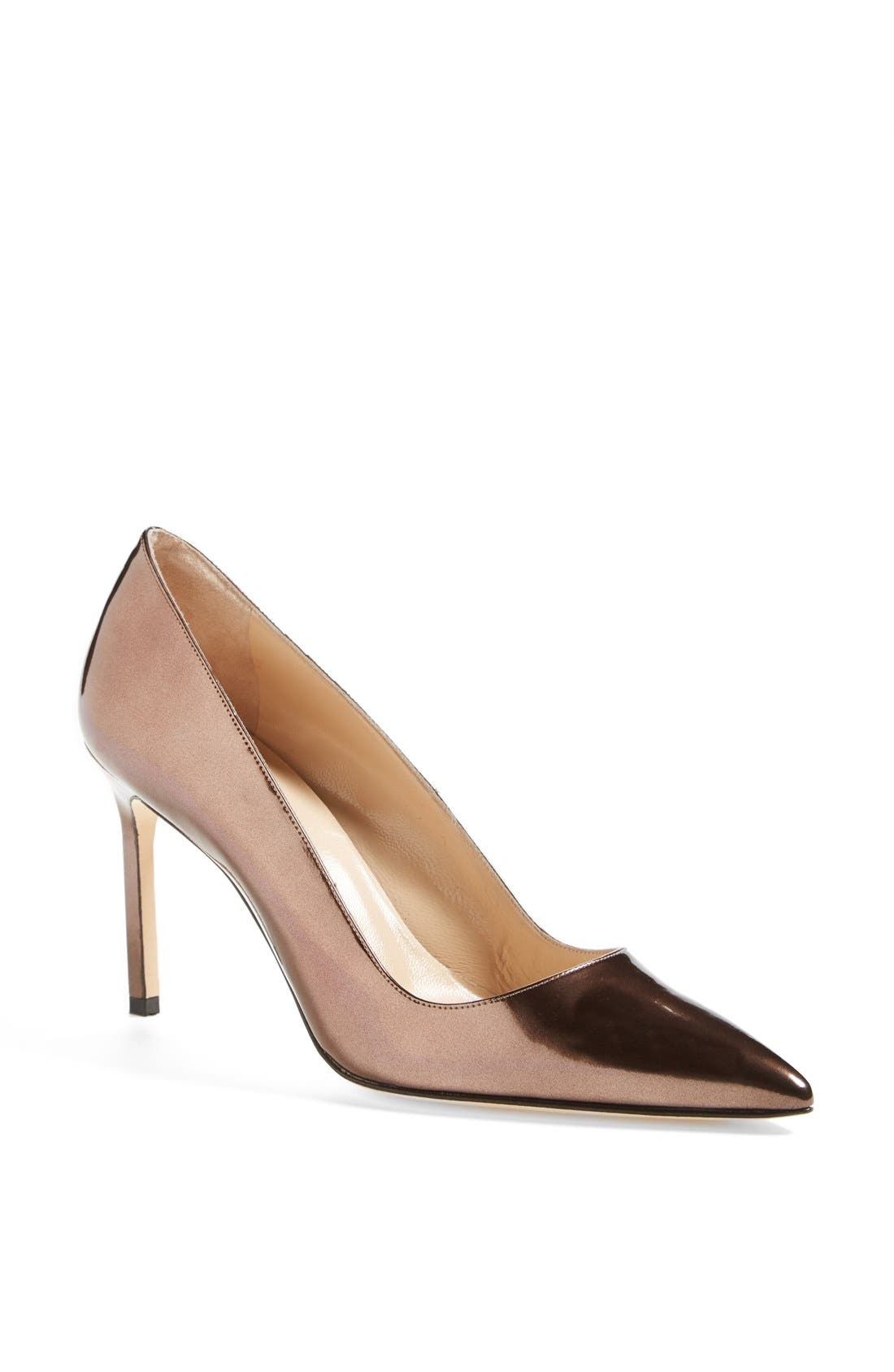 Alternate Image 1 Selected - Manolo Blahnik 'BB' Patent Leather Pointy Toe Pump