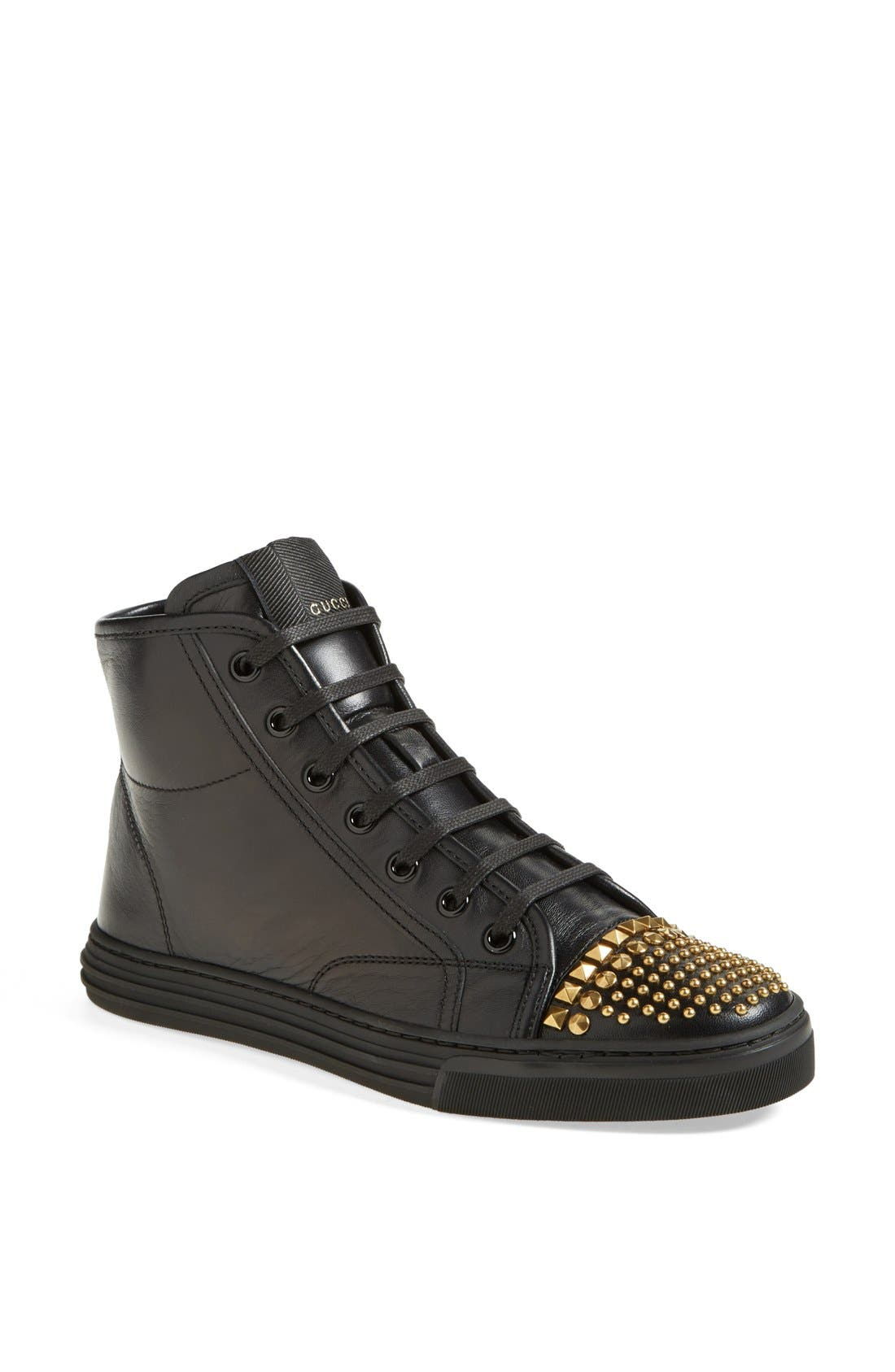 Alternate Image 1 Selected - Gucci 'California' Studded Sneaker (Women)