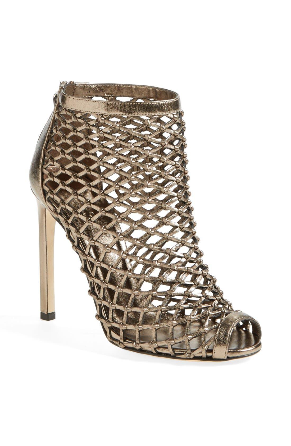 Main Image - Gucci 'Eline' Studded Cage Open Toe Sandal