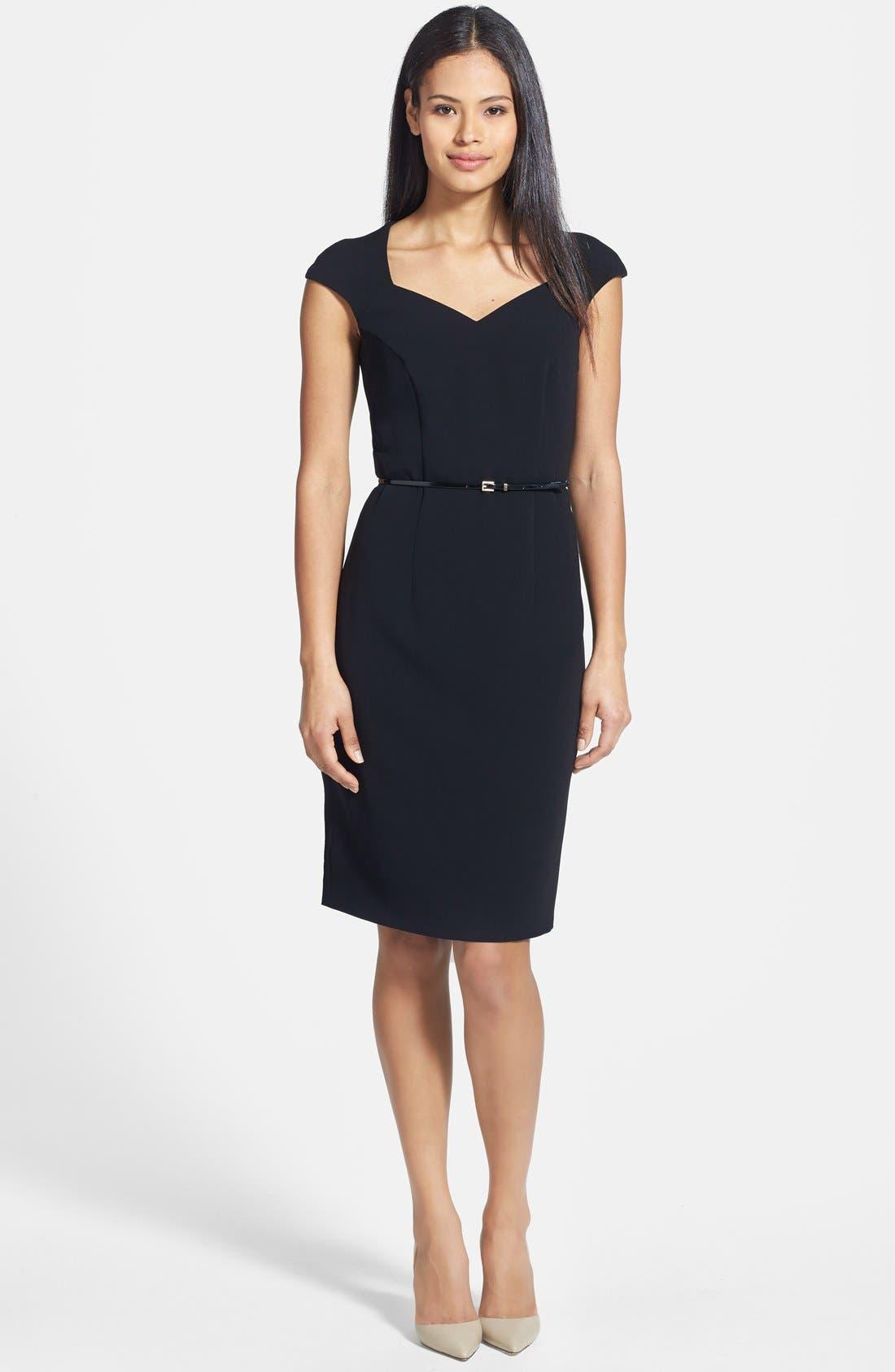 Main Image - BOSS 'Daliyana' Belted Sheath Dress