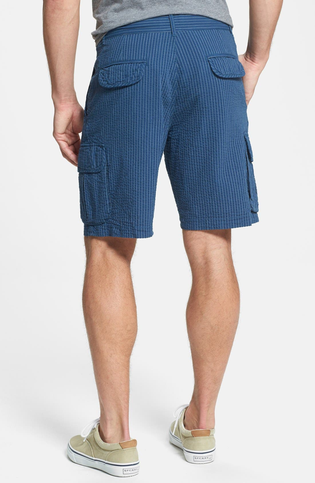 Alternate Image 2  - W.R.K Seersucker Stripe Cargo Shorts