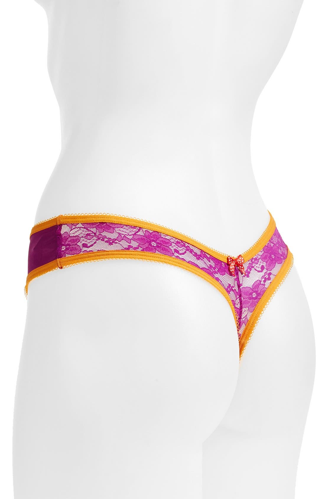 Alternate Image 2  - Josie 'Addictive' Low Rise Lace Back Thong (3 for $30)