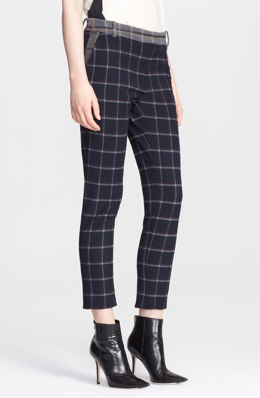 Alternate Image 1 Selected - Band of Outsiders Plaid Crop Pants