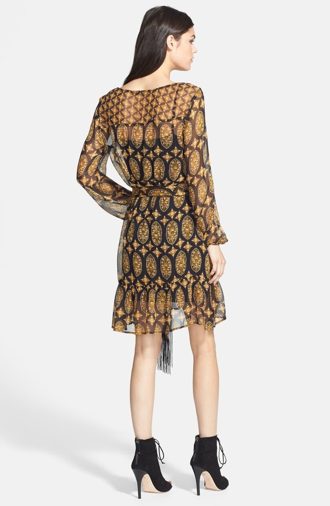 Alternate Image 2  - Ella Moss Marigold Print Silk Dress (Nordstrom Exclusive)