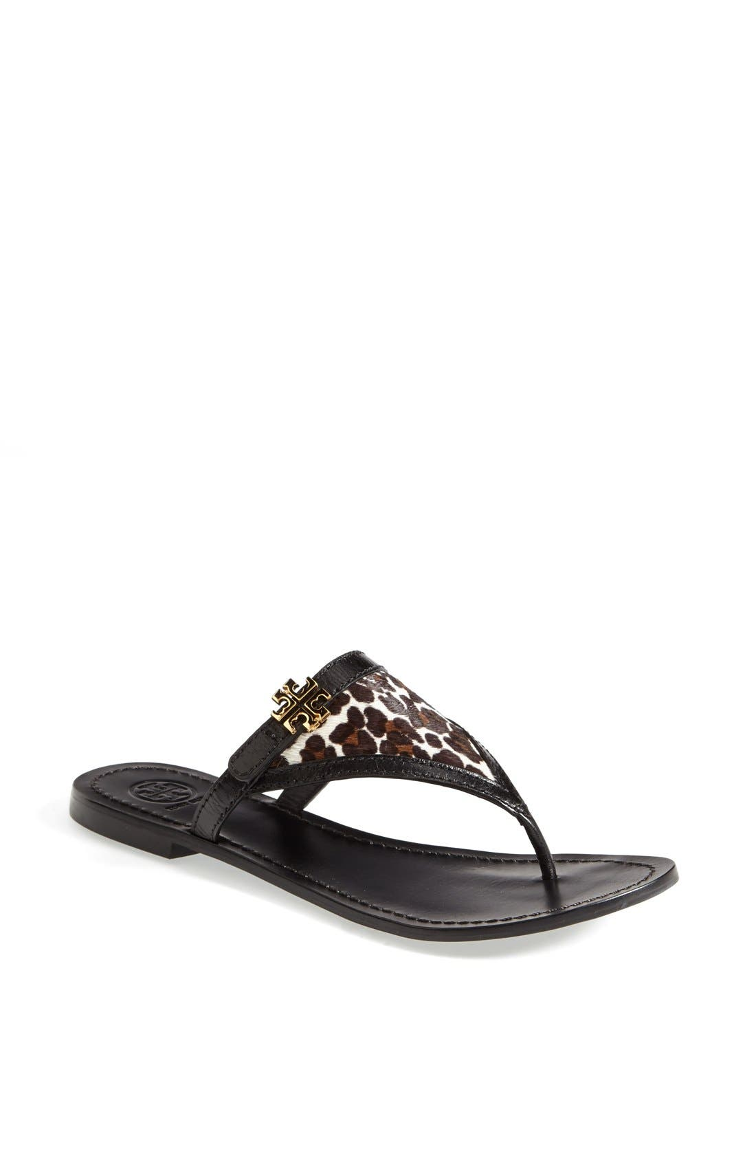 Alternate Image 1 Selected - Tory Burch 'Eloise' Flat Thong Sandal (Nordstrom Exclusive) (Women)