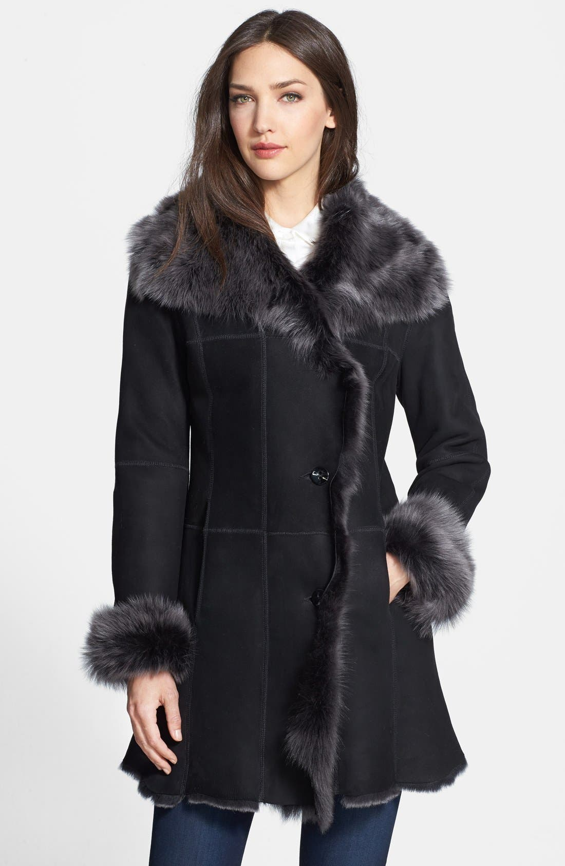 HiSO Genuine Shearling Coat