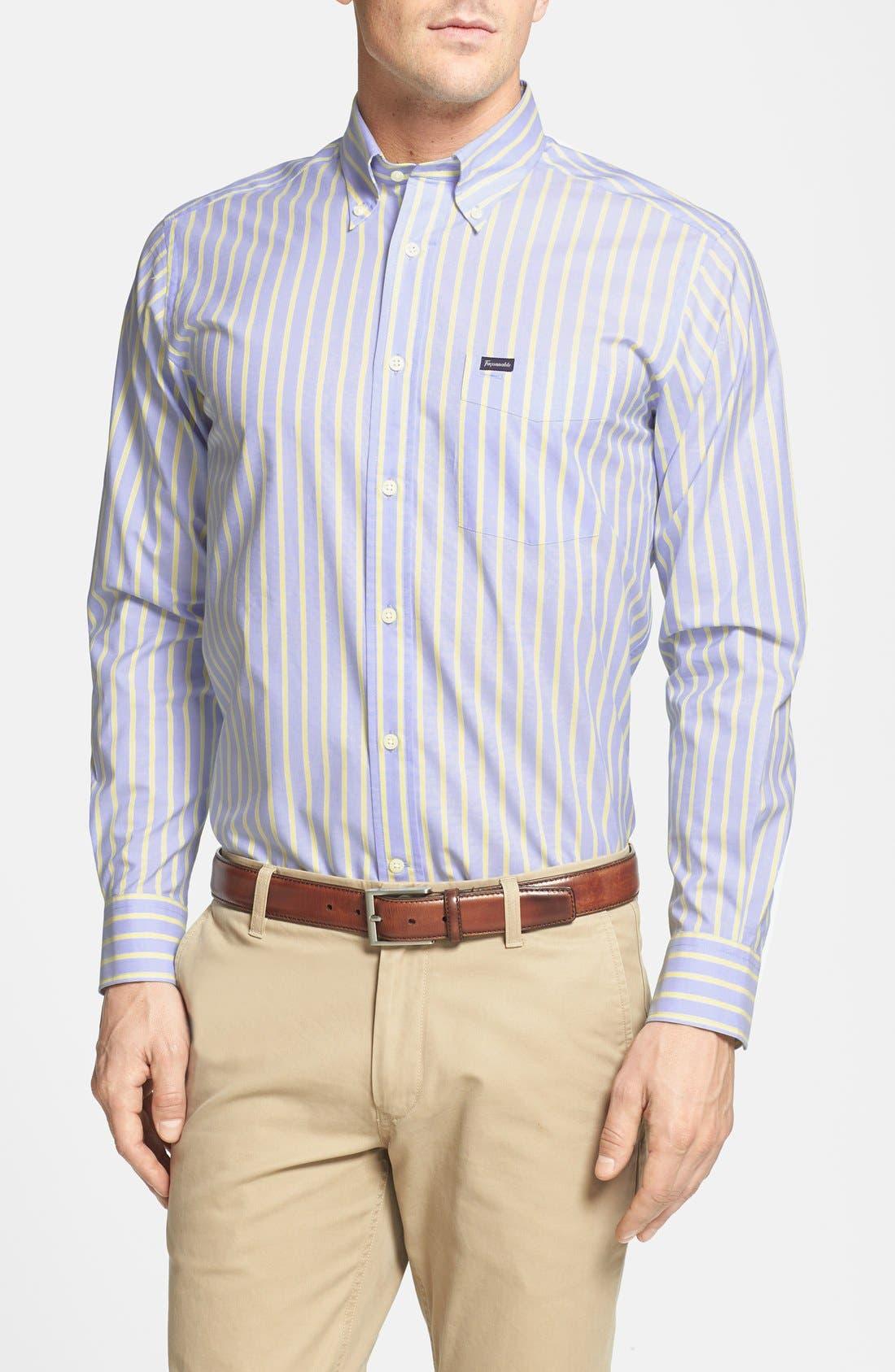 Alternate Image 1 Selected - Façonnable Club Fit Stripe Sport Shirt