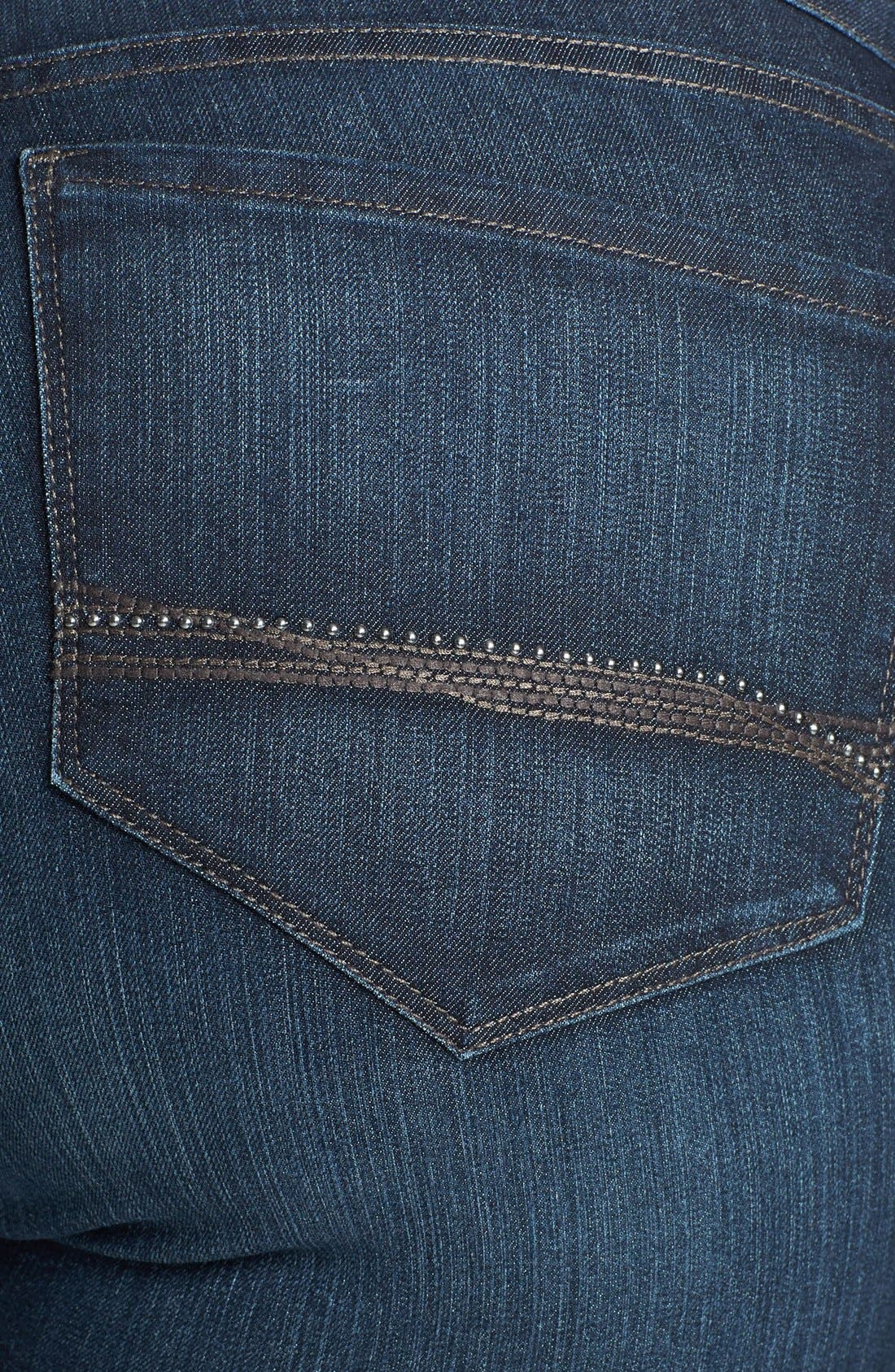 Alternate Image 3  - NYDJ 'Barbara' Embellished Pocket Stretch Bootcut Jeans (Burbank) (Plus Size)