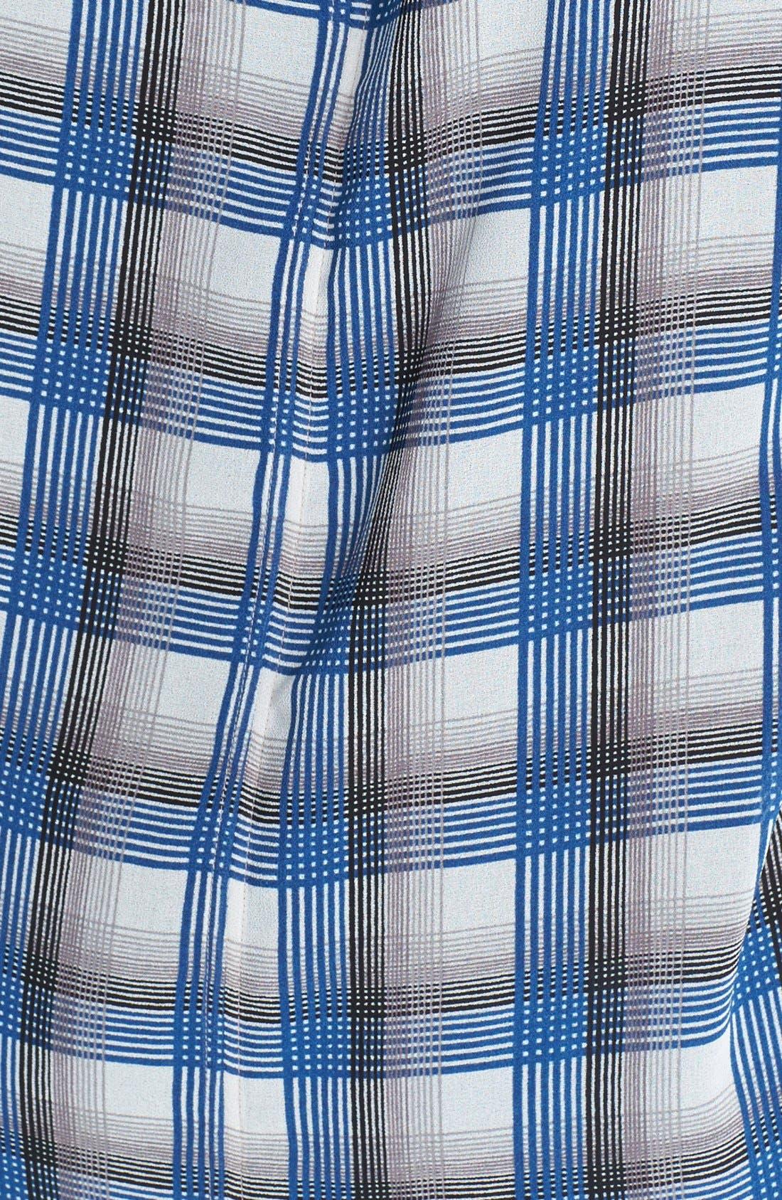 Alternate Image 3  - Caslon® Sheer Woven Plaid Tee (Regular & Petite)