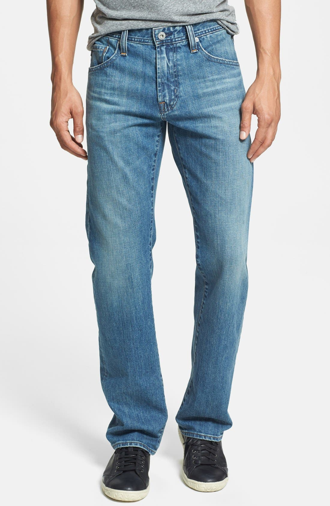 Alternate Image 1 Selected - AG 'Protégé' Straight Leg Jeans (Subterranean)