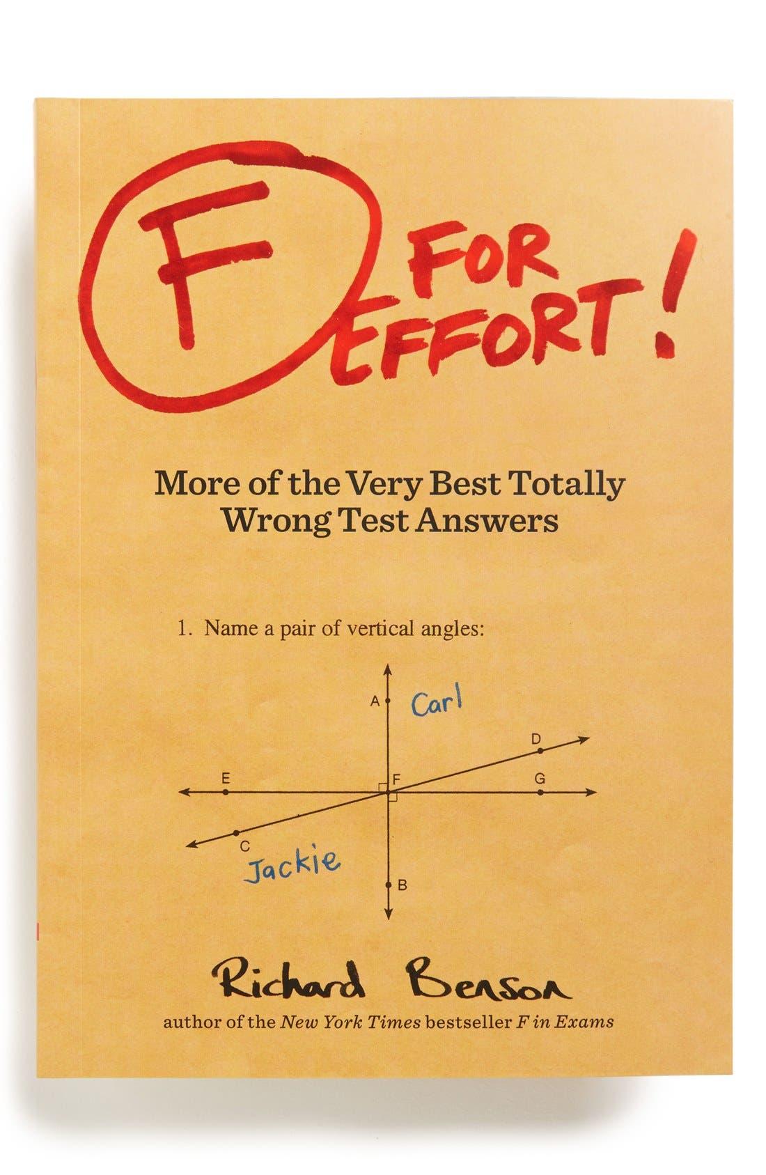 Main Image - 'F for Effort' Book