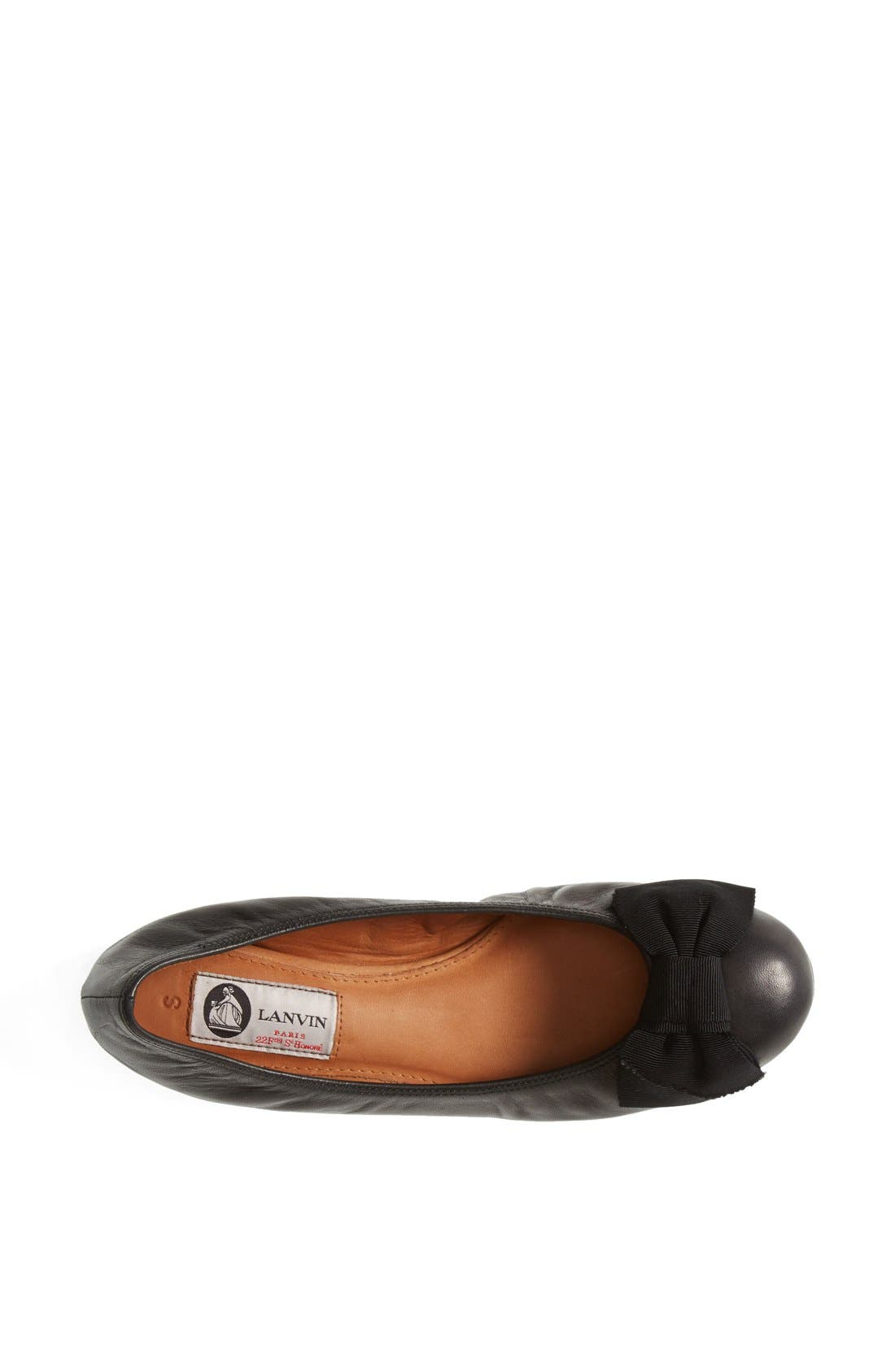 Alternate Image 3  - Lanvin Bow Ballerina Flat (Women)