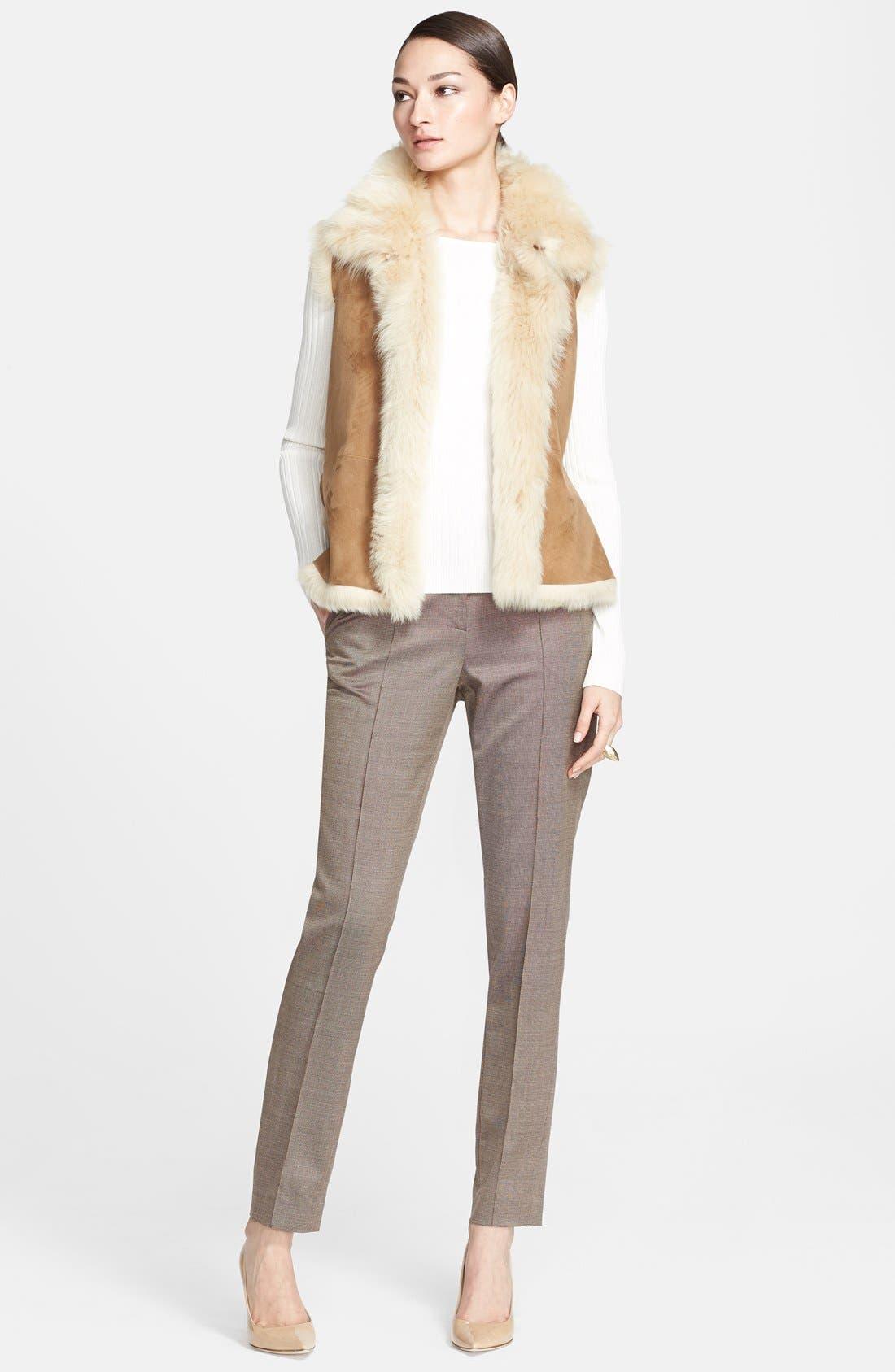 Alternate Image 4  - St. John Collection Genuine Shearling Vest