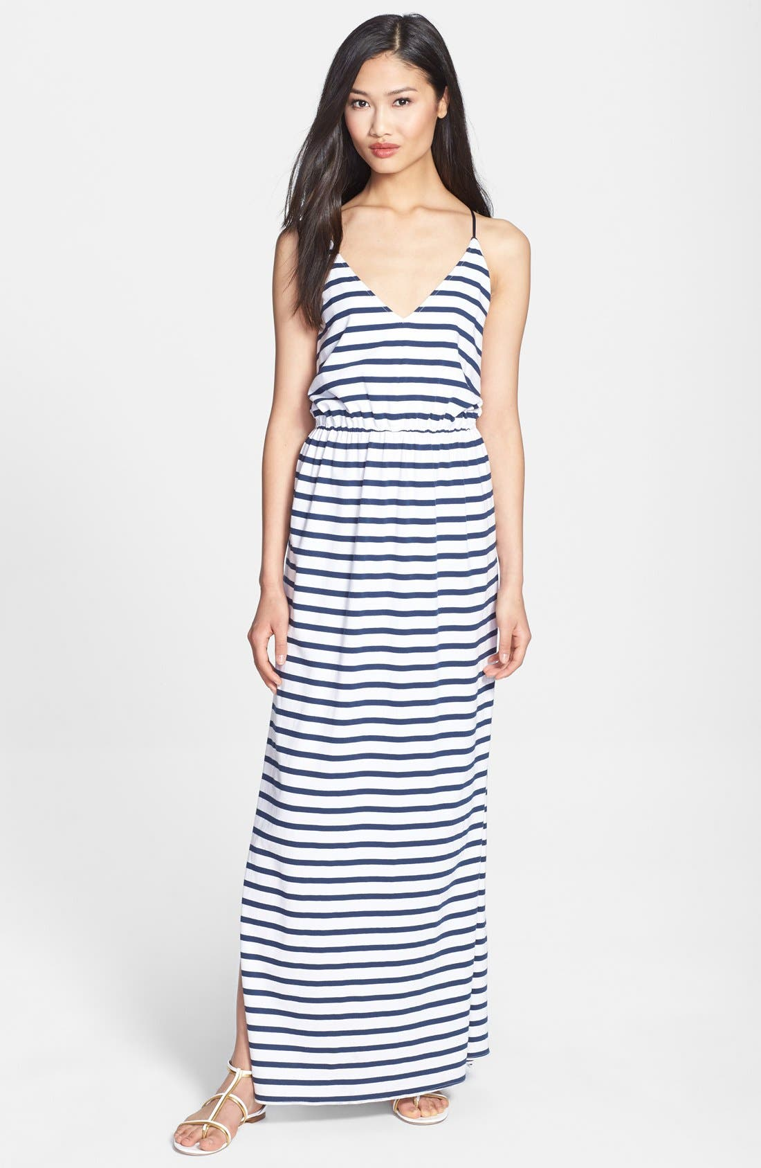 Main Image - Milly Stripe Jersey Maxi Dress