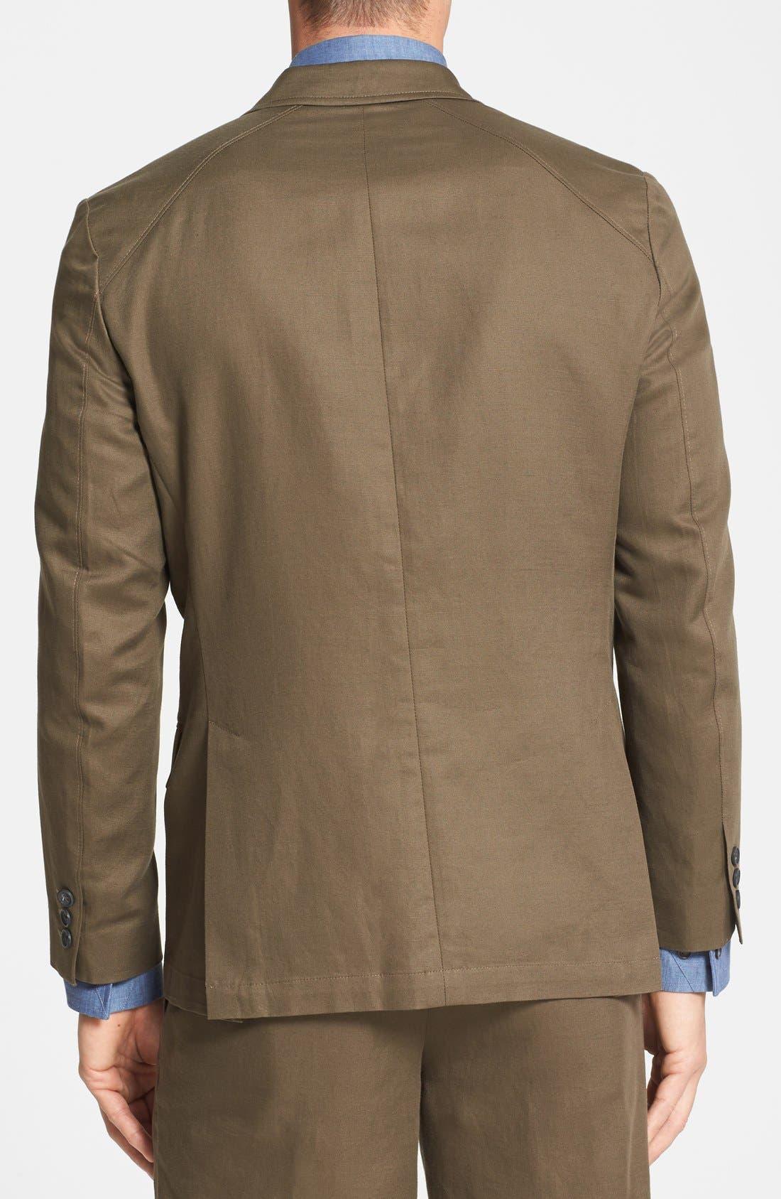 Alternate Image 2  - Vince Camuto Slim Fit Cotton & Linen Blazer