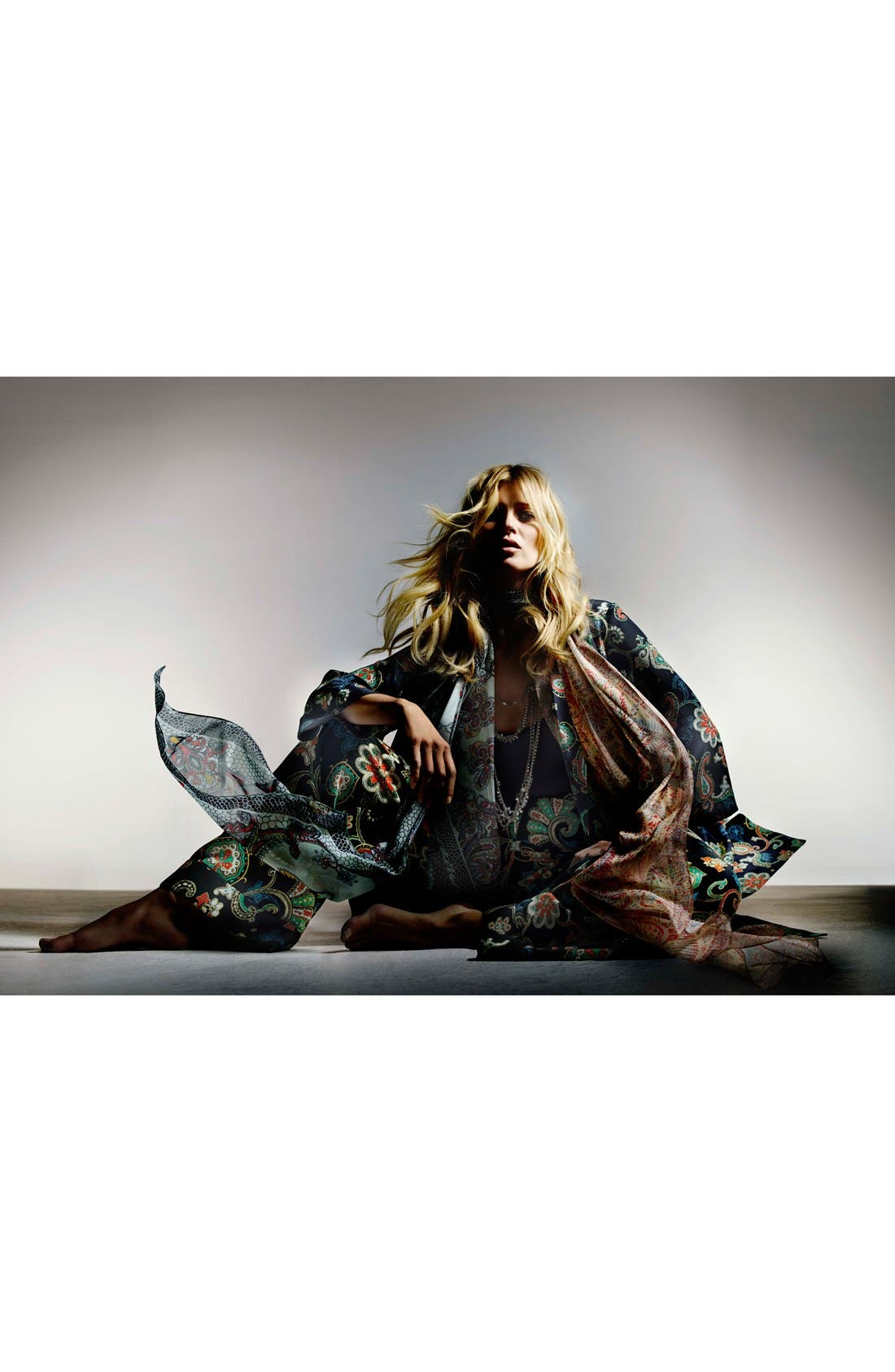 Alternate Image 6  - Kate Moss for Topshop Paisley Wide Leg Pants
