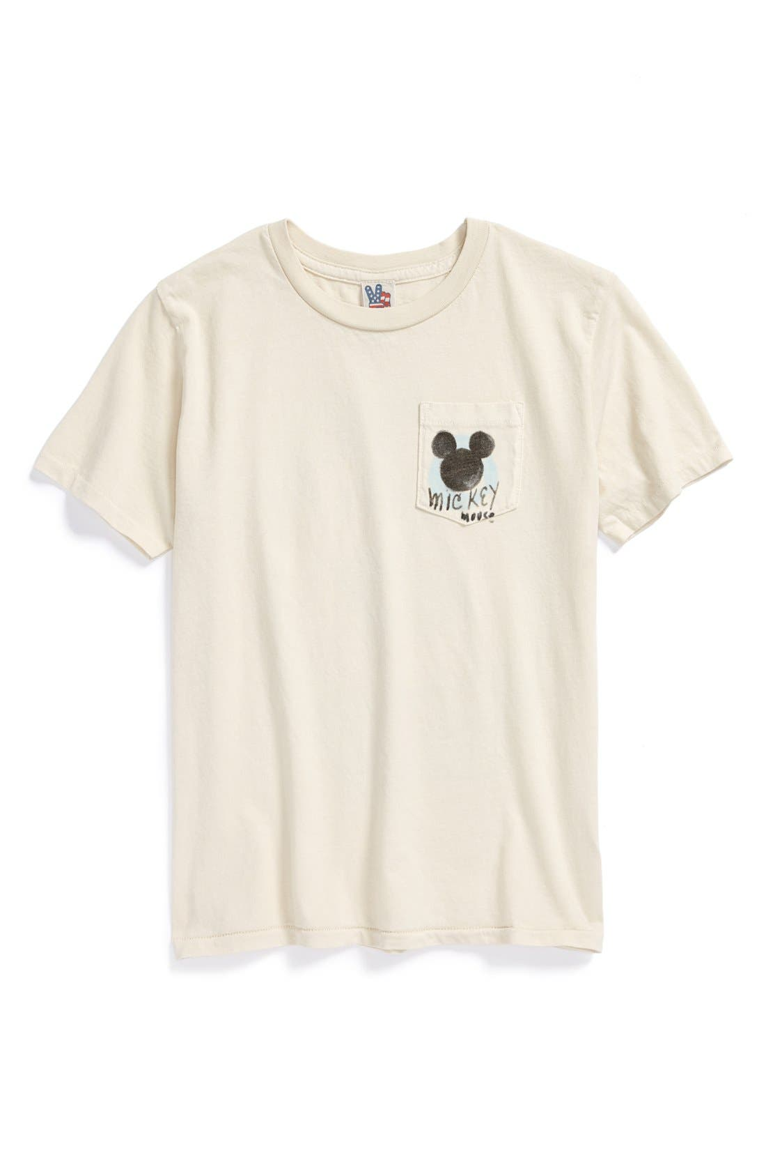 Alternate Image 1 Selected - Junk Food 'Mickey Mouse™' T-Shirt (Toddler Boys)