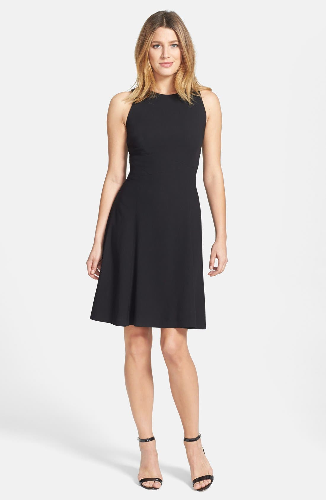Alternate Image 1 Selected - Classiques Entier® 'Catroux' Twill Fit & Flare Dress