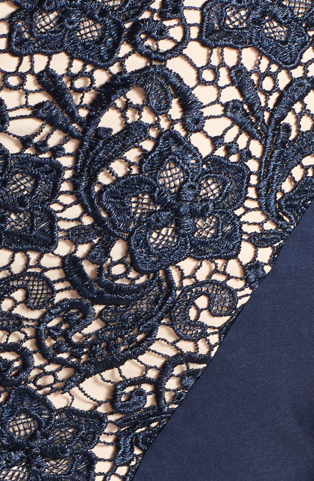 Alternate Image 4  - Jessica Simpson Contrast Panel Lace Sheath Dress