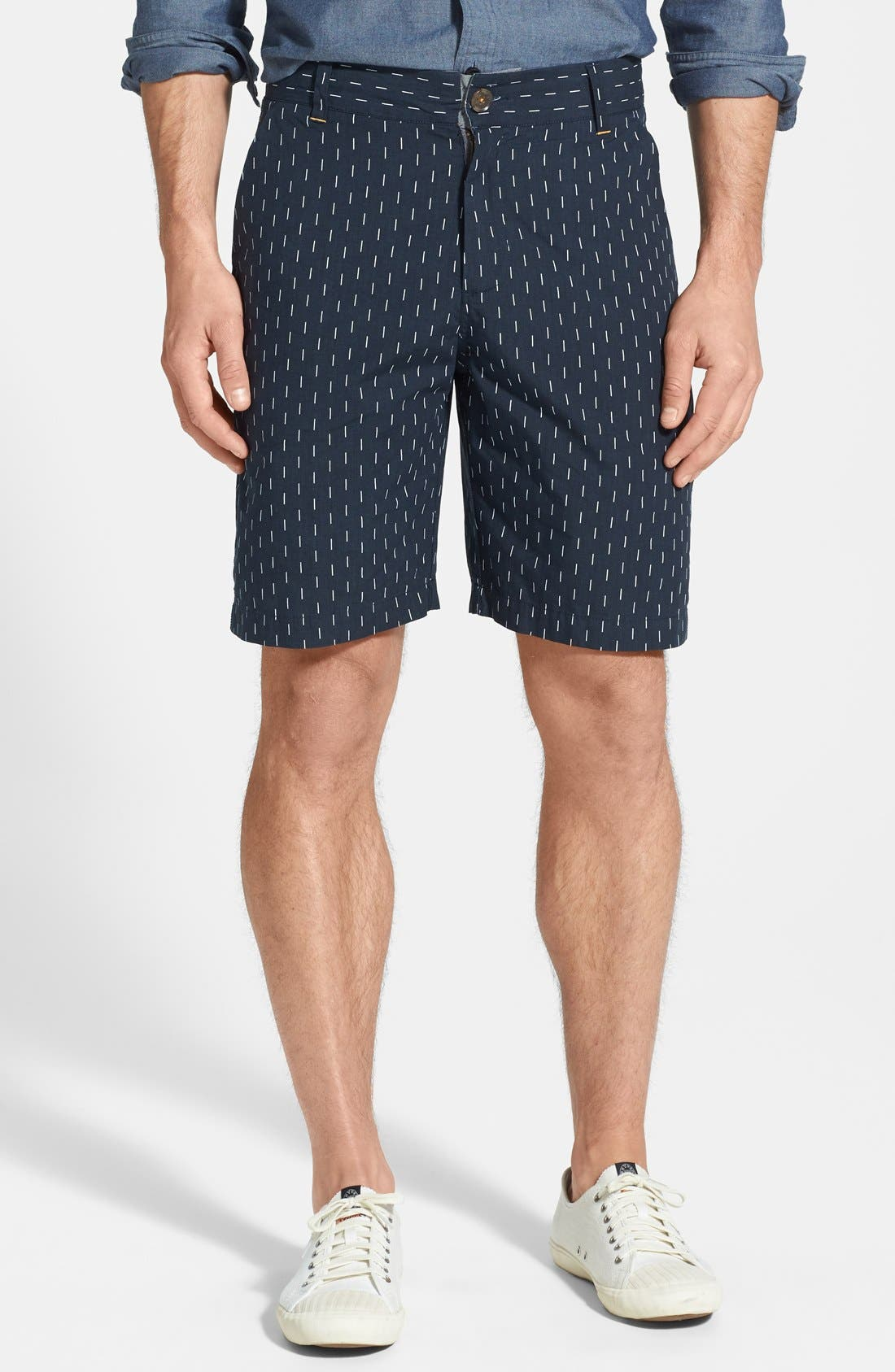 Main Image - W.R.K 'Gibson' Relaxed Fit Dash Print Shorts