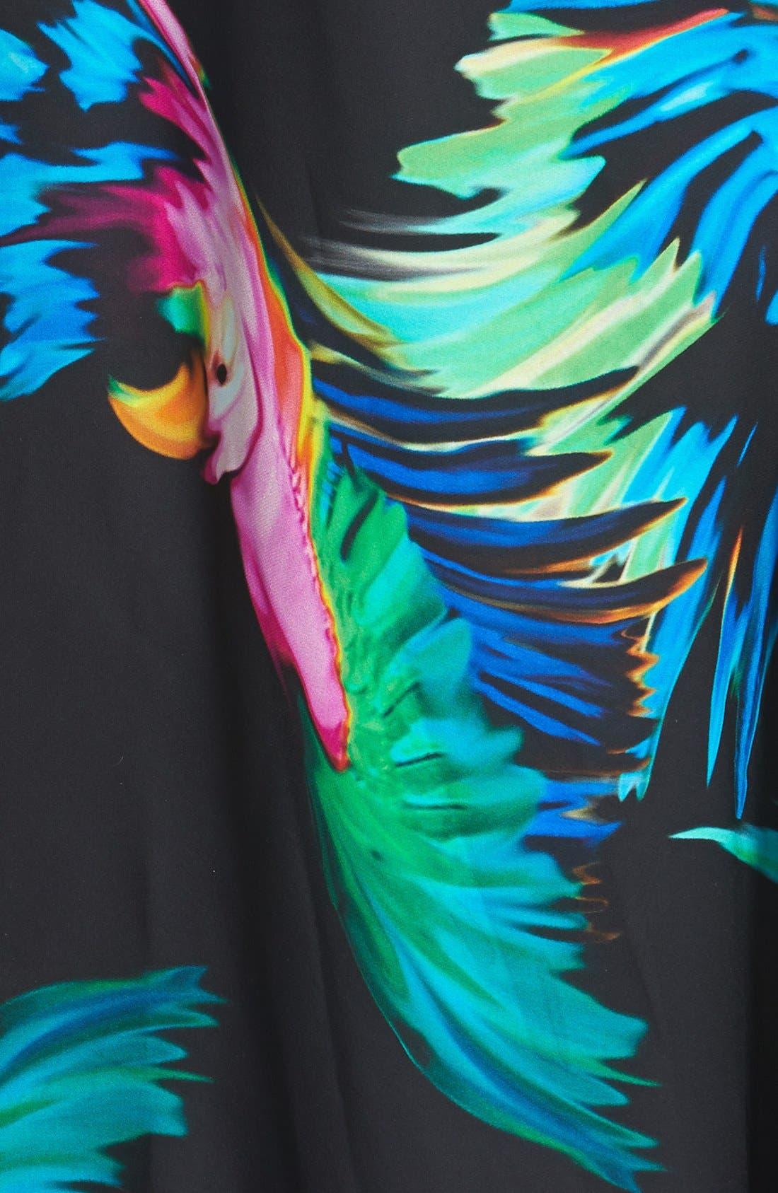 Alternate Image 3  - Milly Strappy Paradise Print Silk Dress