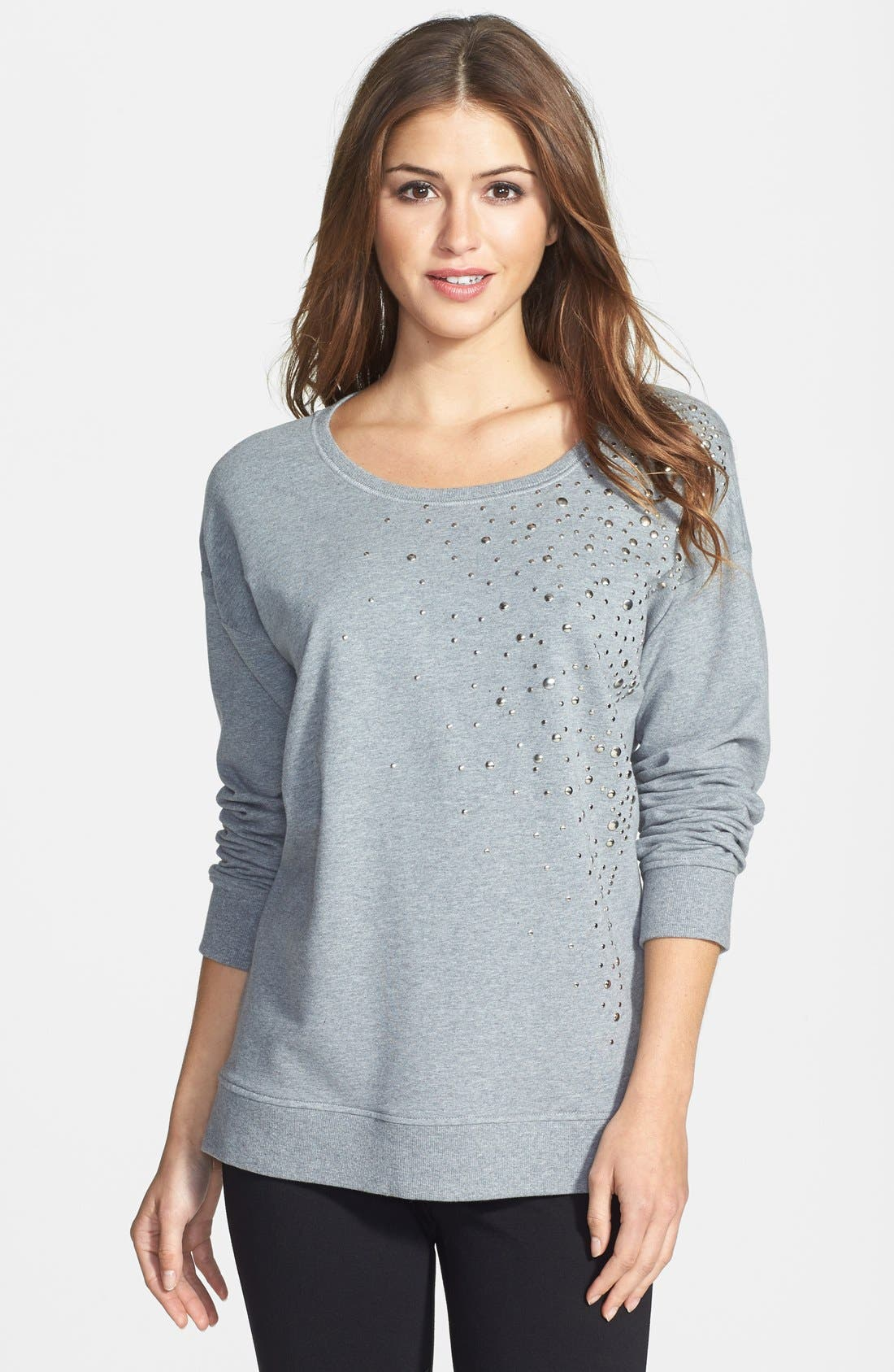 Main Image - Two by Vince Camuto Embellished Sweatshirt